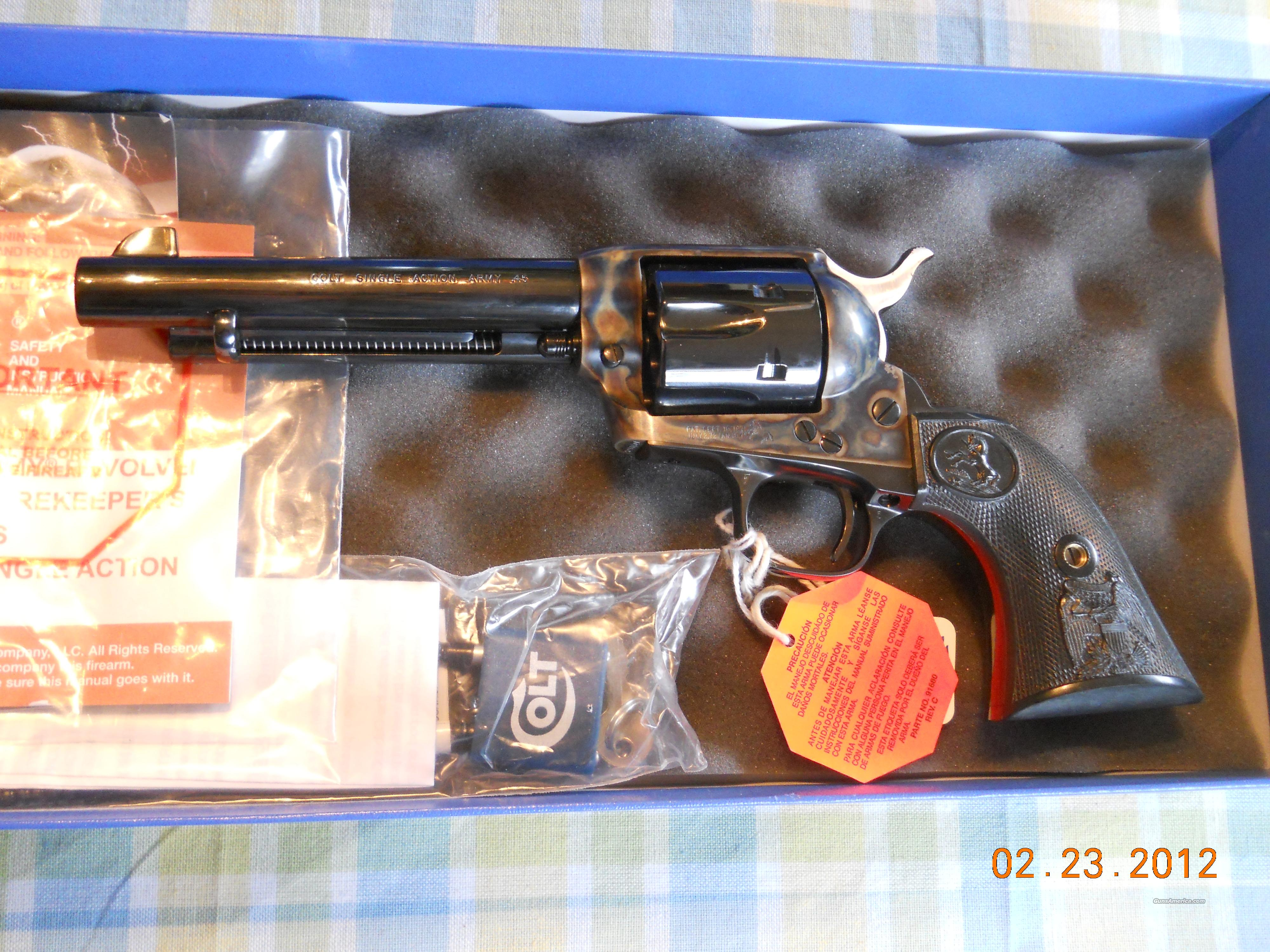 "NIB!! COLT P1850 SINGLE ACTION ARMY .45 COLT - BLUE 5.5""  Guns > Pistols > Colt Single Action Revolvers - 3rd Gen."