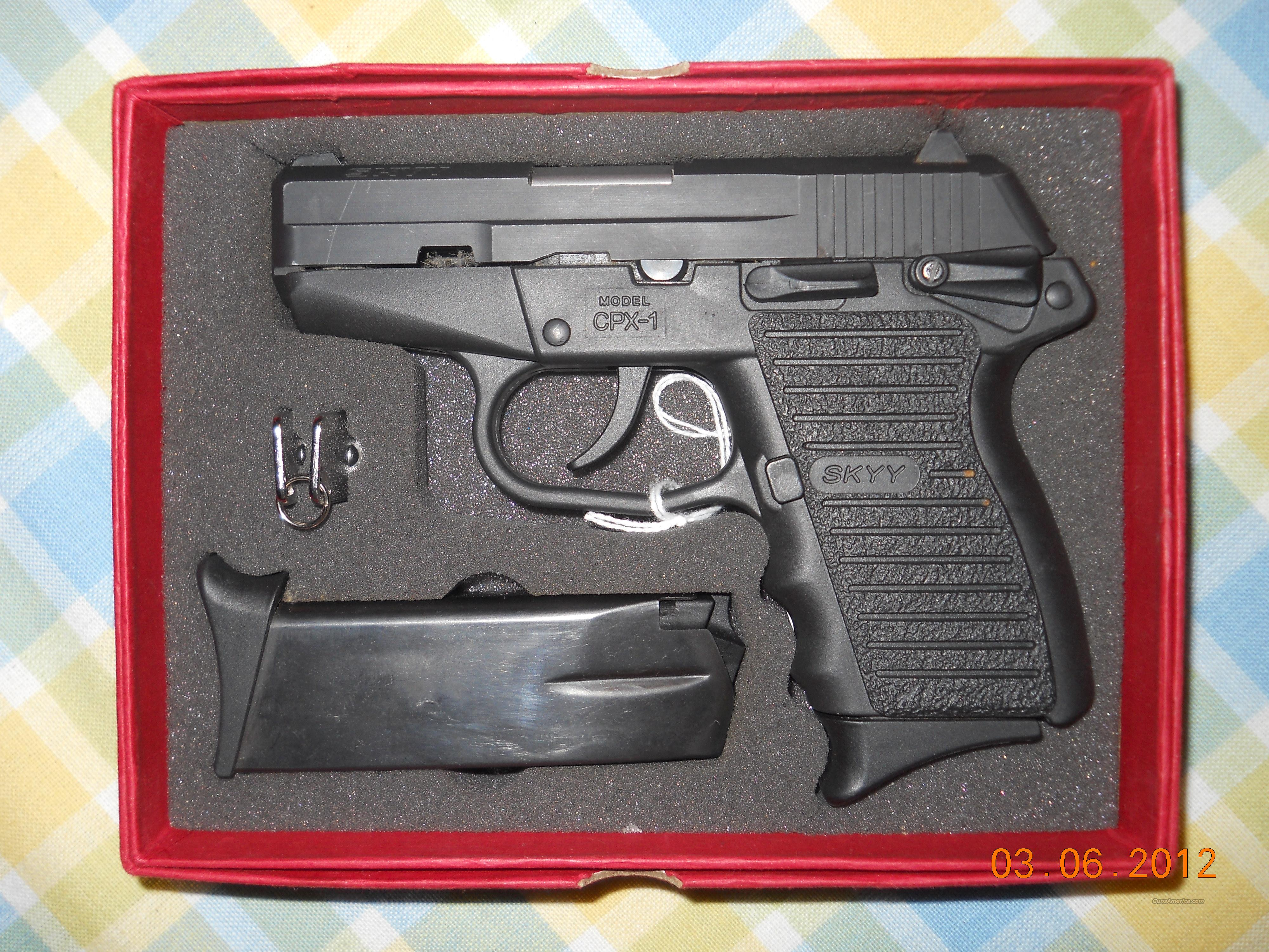 NEW!! SKYY INDUSTRIES CPX-1 .9MM CONSEAL CARRY PISTOL  Guns > Pistols > S Misc Pistols