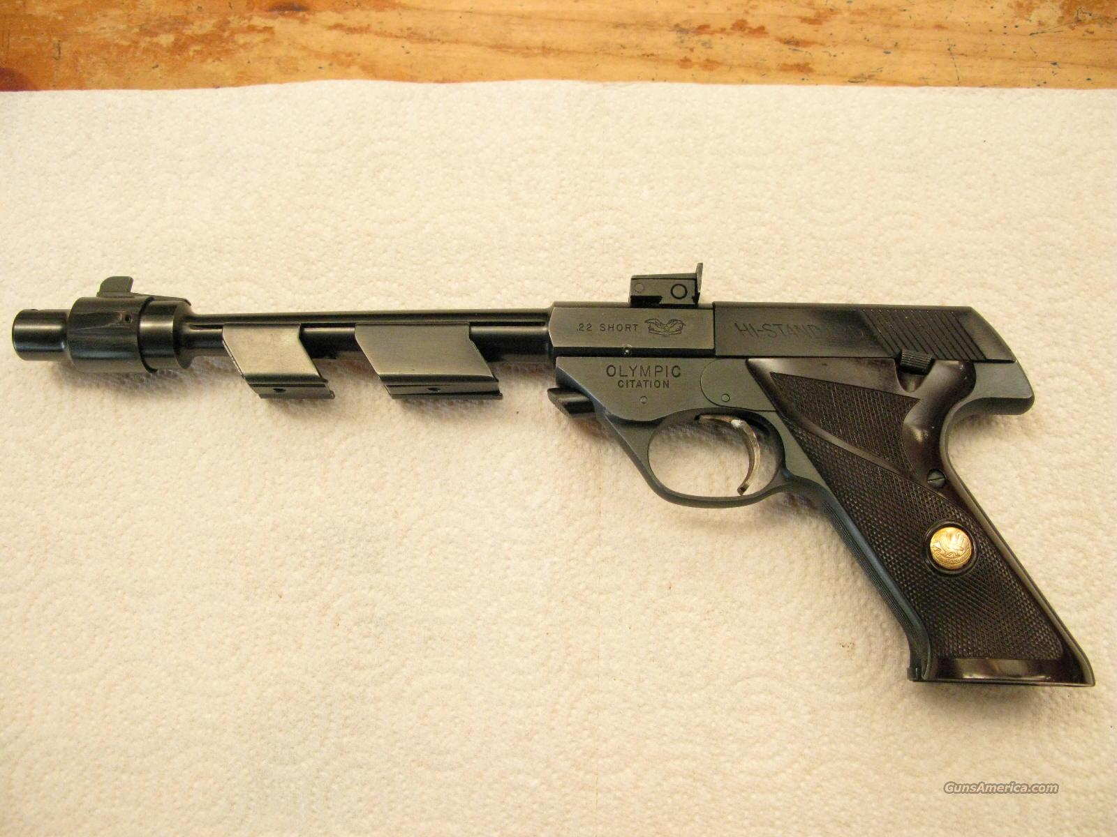 "M-102 Olympic Citation 8"" .22 Short Only, Supermatic Space Gun  Guns > Pistols > High Standard Pistols"