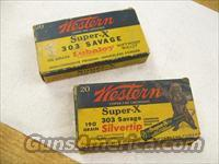Western .303 Savage Ammunition Old Boxes Winchester  Ammunition