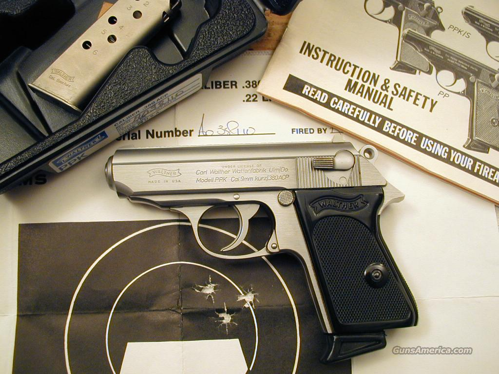 PPK .380 ACP Stainless New In Box   Guns > Pistols > Walther Pistols > Post WWII > PP Series