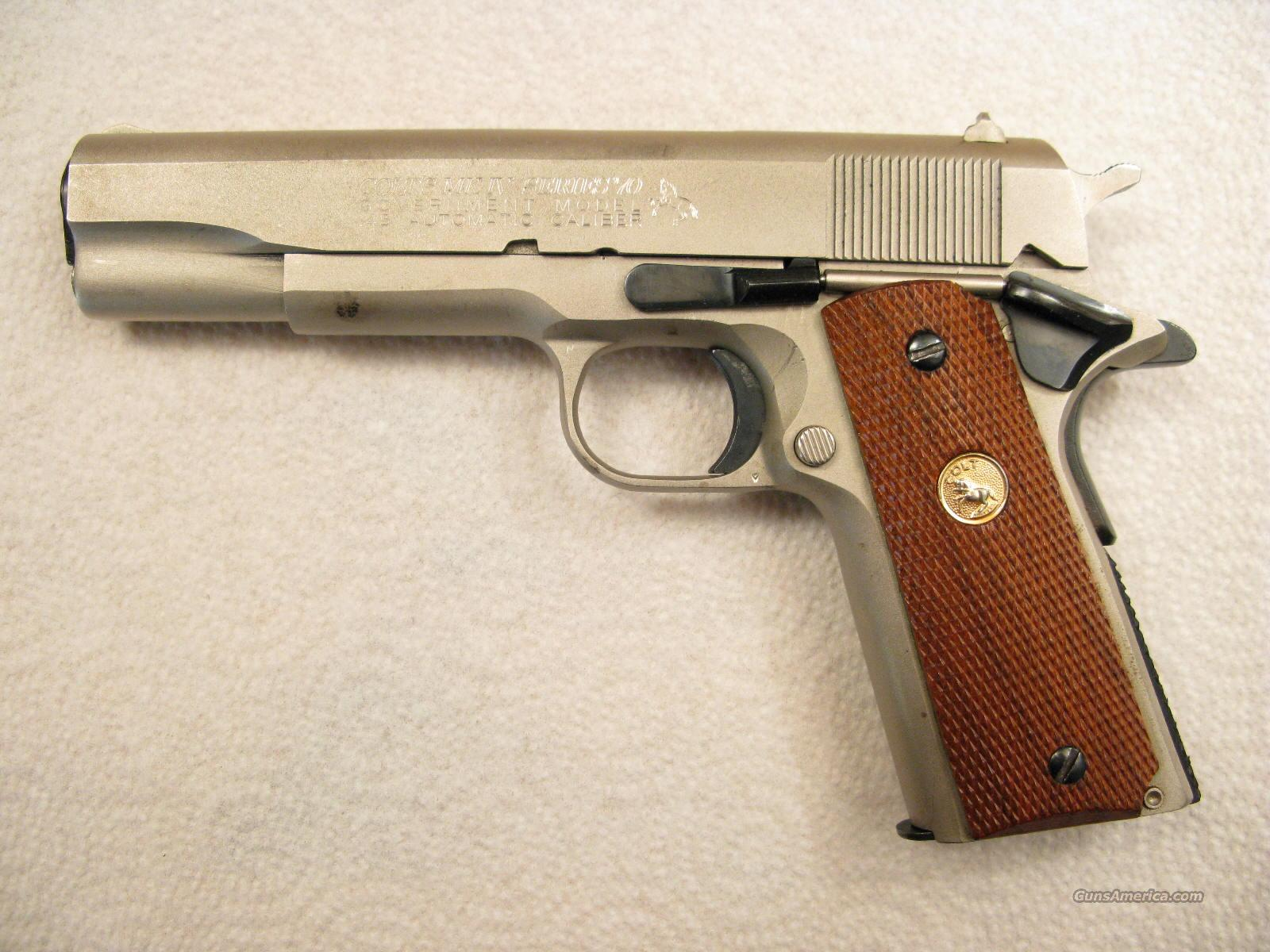 Government Series 70 .45 ACP Electroless Nickel  Guns > Pistols > Colt Automatic Pistols (1911 & Var)
