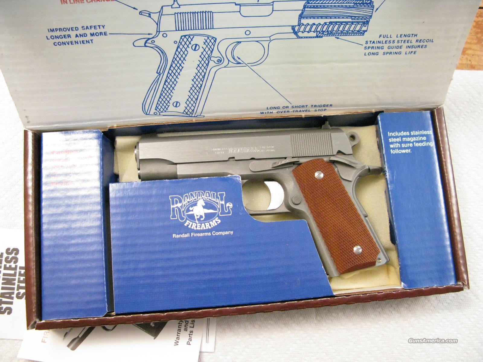 Randall Model Gen. Curtis E. LeMAY  Four Star .45 ACP New In Box A311  Guns > Pistols > Randall Pistols