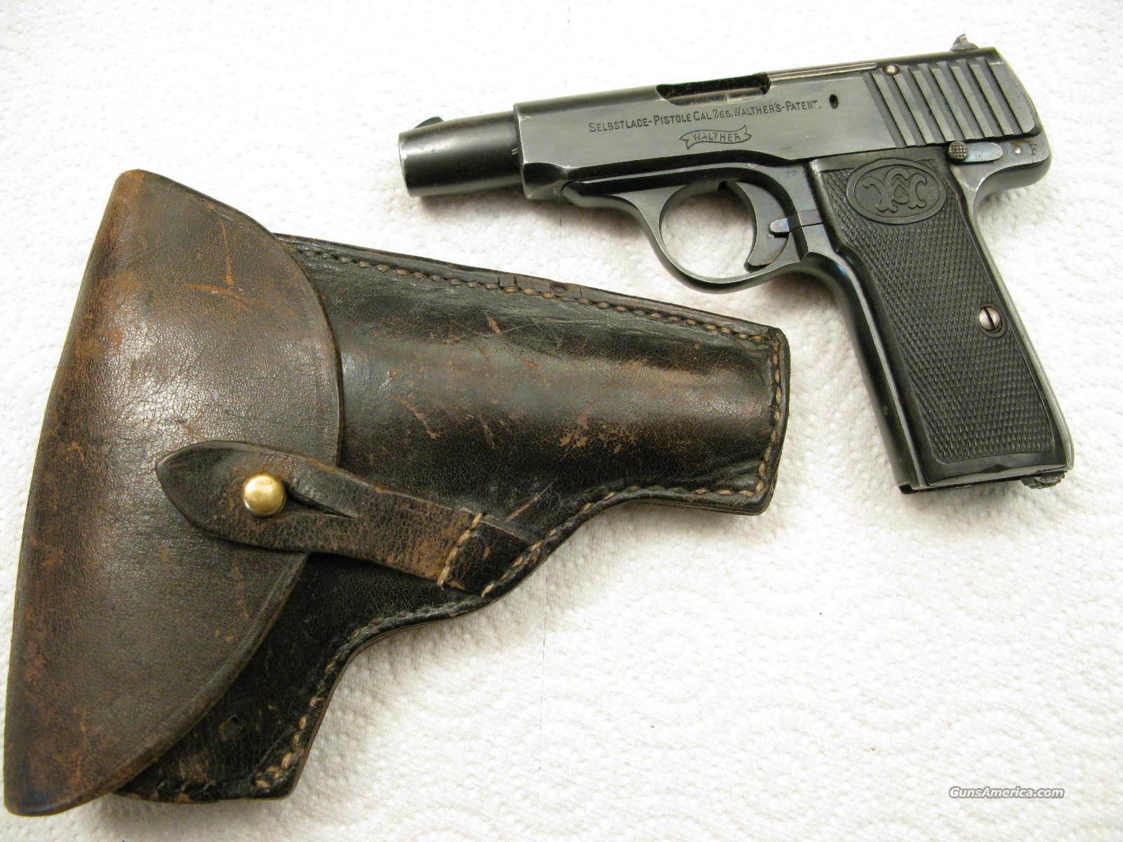 Walther Model 4 Caliber 7.65mm  With Holster  Guns > Pistols > Walther Pistols > Pre-1945 > Other