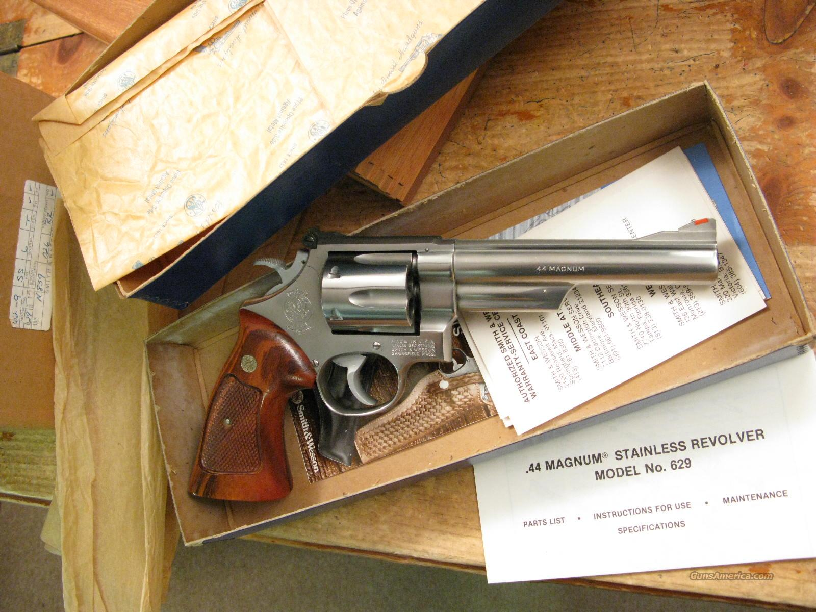 "M-629 New In Box Pinned and Recessed 6"" .44 Magnum  Guns > Pistols > Smith & Wesson Revolvers > Model 629"