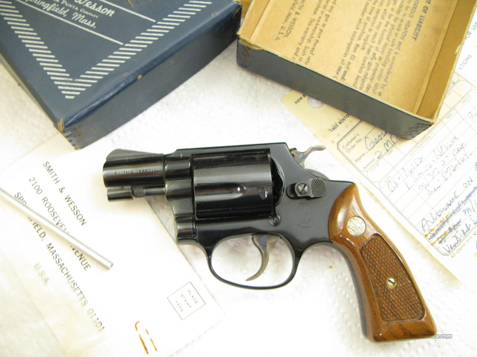 "M-37  Airweight 2"" .38 Special ""Snubbie"" Still New In Box from 1973  Guns > Pistols > Smith & Wesson Revolvers > Full Frame Revolver"