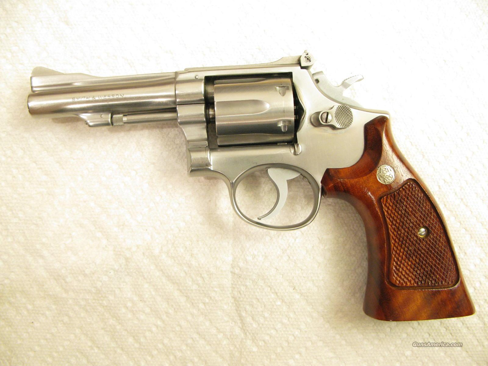 S&W M-67 Early Model .38 Combat Masterpiece 1st Year Stainless Steel  Guns > Pistols > Smith & Wesson Revolvers > Full Frame Revolver