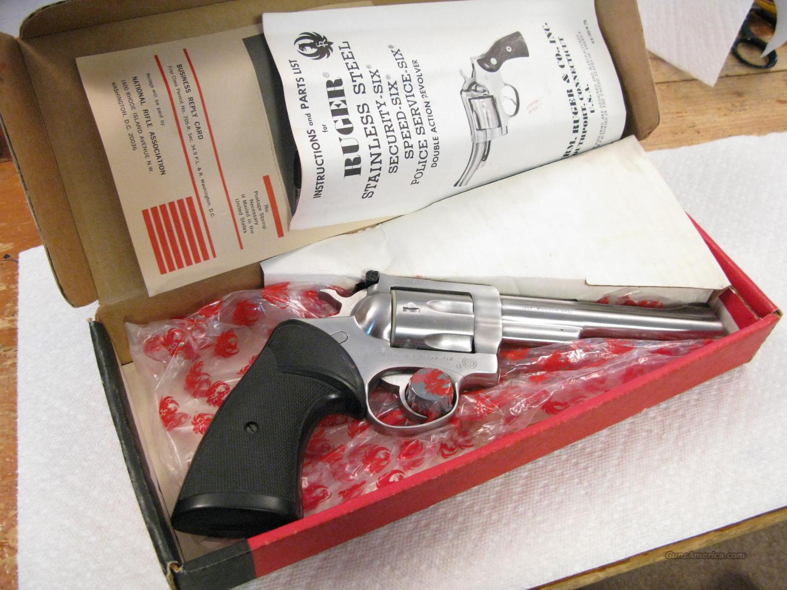 "Security-Six 6"" .357 Magnum Stainless Steel Earlier  Model New In Box  Guns > Pistols > Ruger Double Action Revolver > Security Six Type"
