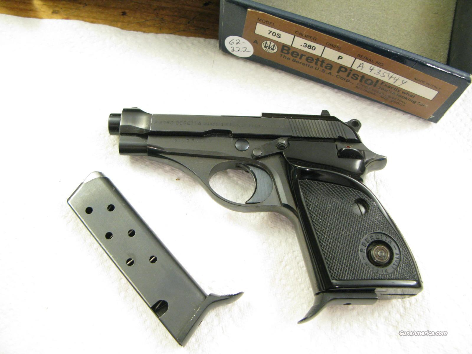 M-70-S .380 ACP Really Nice in the Original Box With Both Magazines  Guns > Pistols > Beretta Pistols > Rare & Collectible