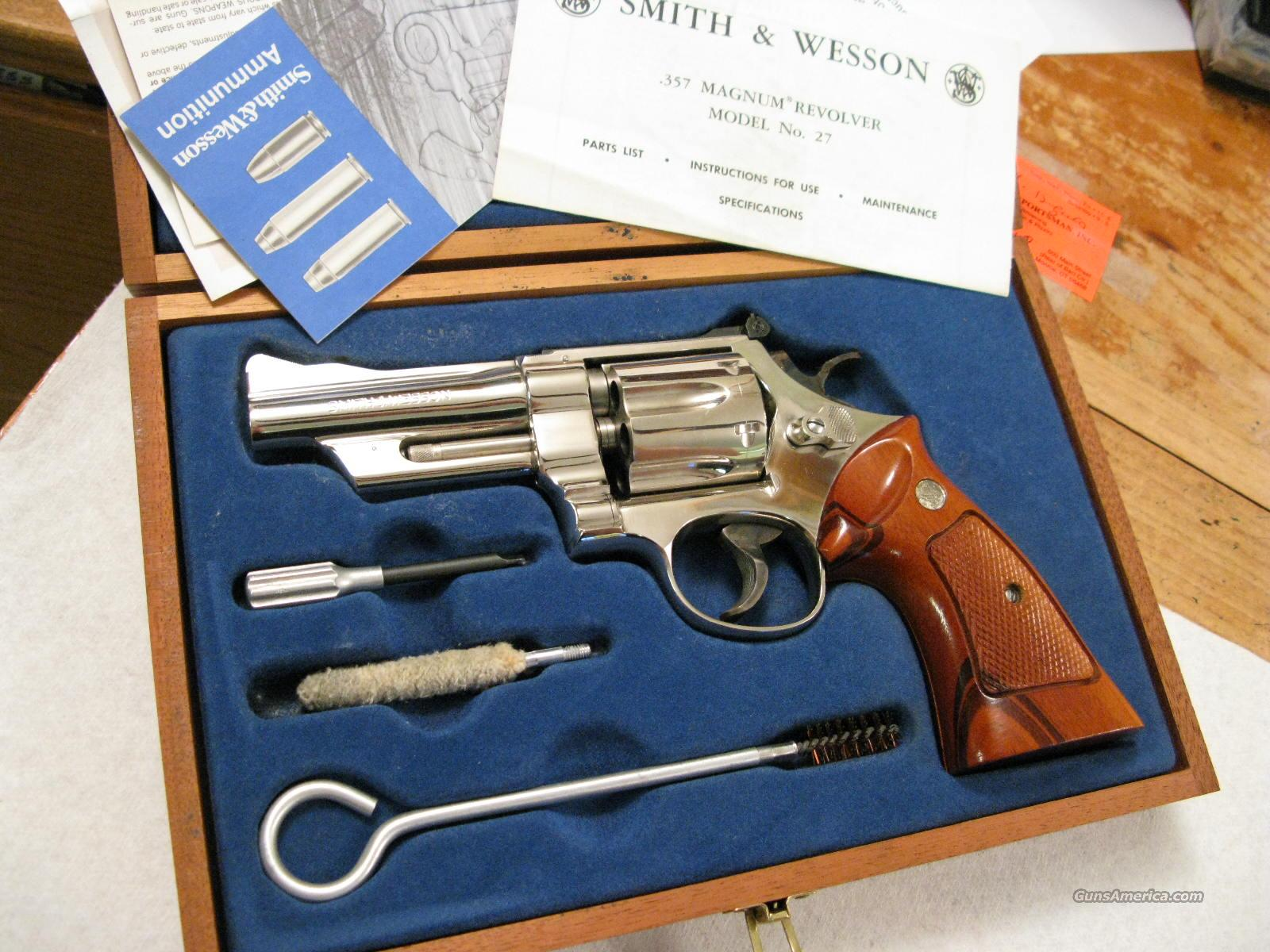 "M-27-2 4"" Vintage .357 Magnum Nickel As New in Box  Guns > Pistols > Smith & Wesson Revolvers > Full Frame Revolver"