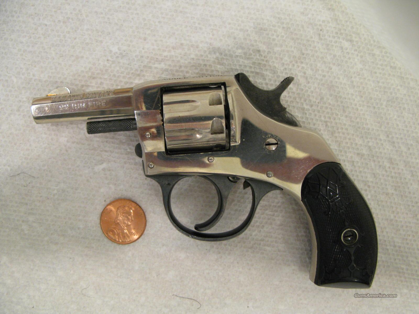 Young America Octagon .22 Caliber 7-Shot Nickel Revolver Nice!  Guns > Pistols > Harrington & Richardson Pistols