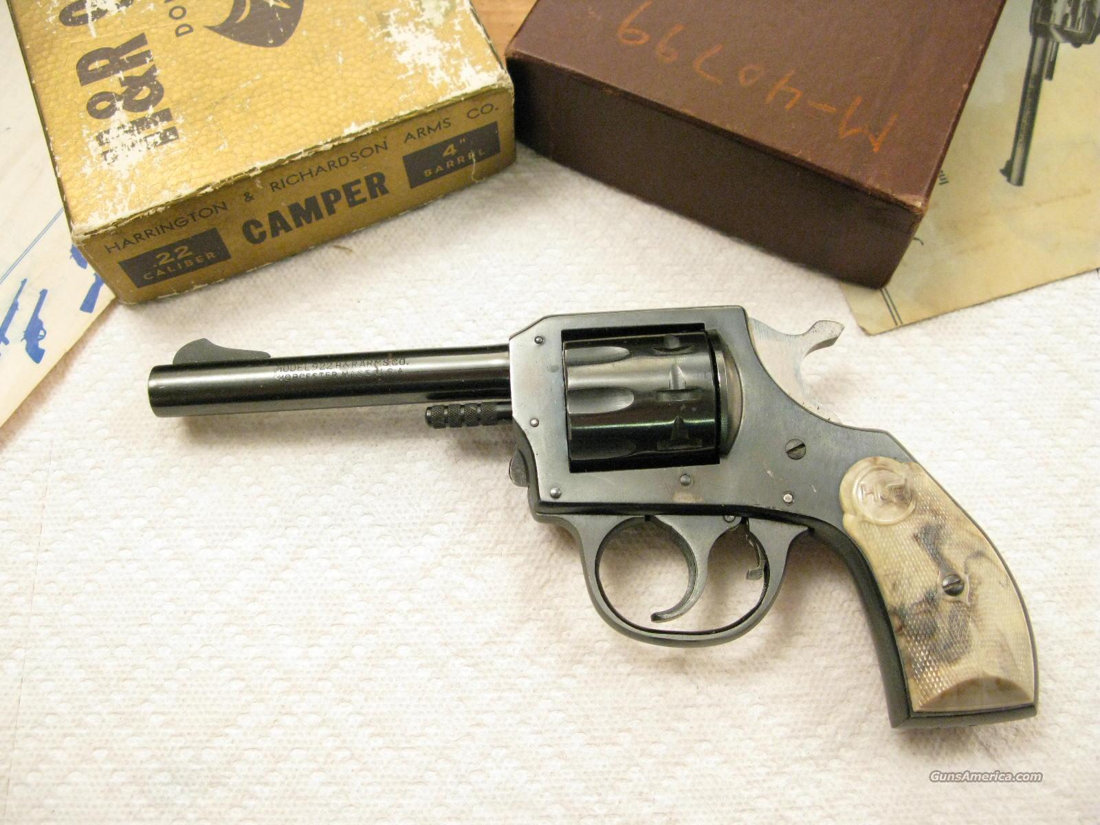 "M-922 4""  .22Lr ""Camper""  9 Shot Original Box   Guns > Pistols > Harrington & Richardson Pistols"