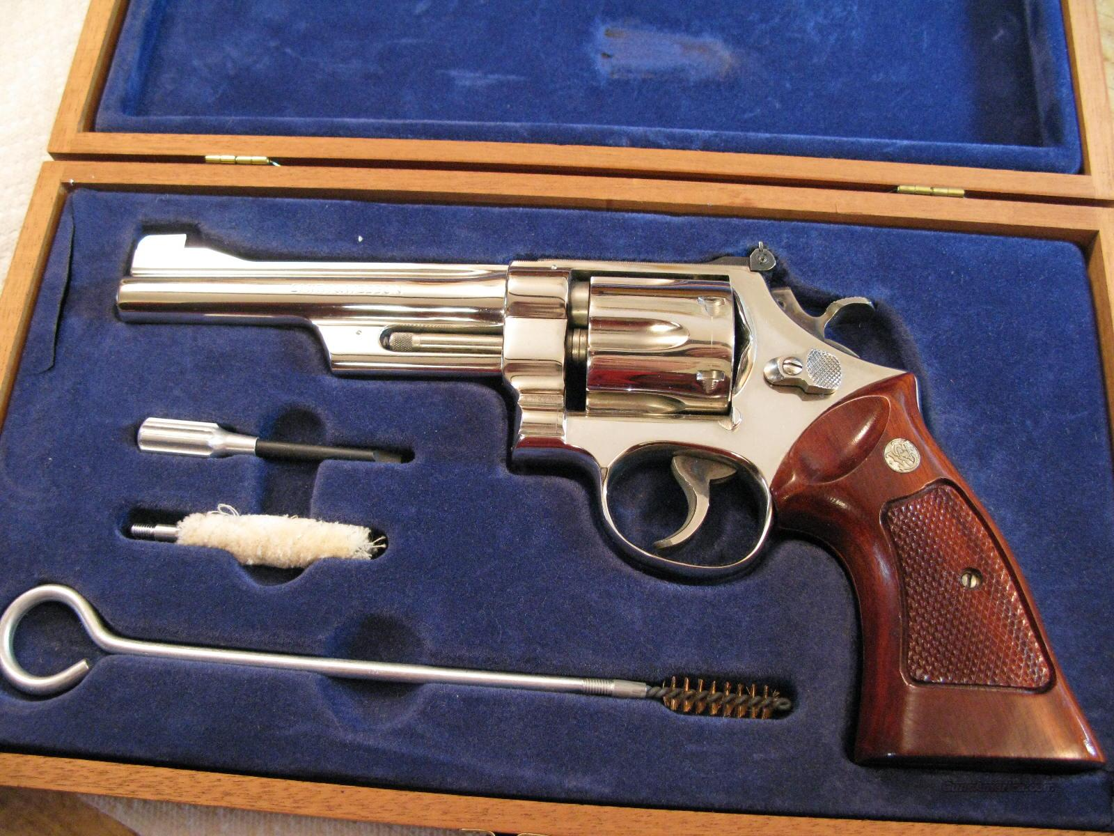 "M-27 Nickel 6"" .357 Magnum New In Box From 1976  Guns > Pistols > Smith & Wesson Revolvers > Full Frame Revolver"