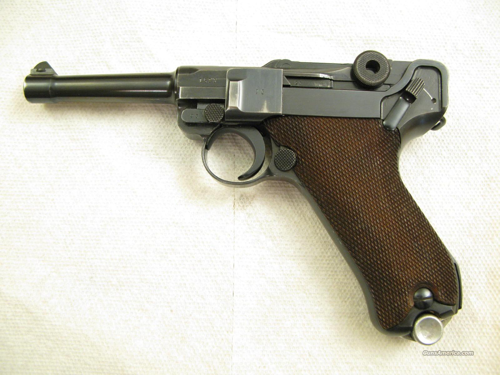 1937 S/42 9mm German Army Pistol From WWII Nice!  Guns > Pistols > Luger Pistols