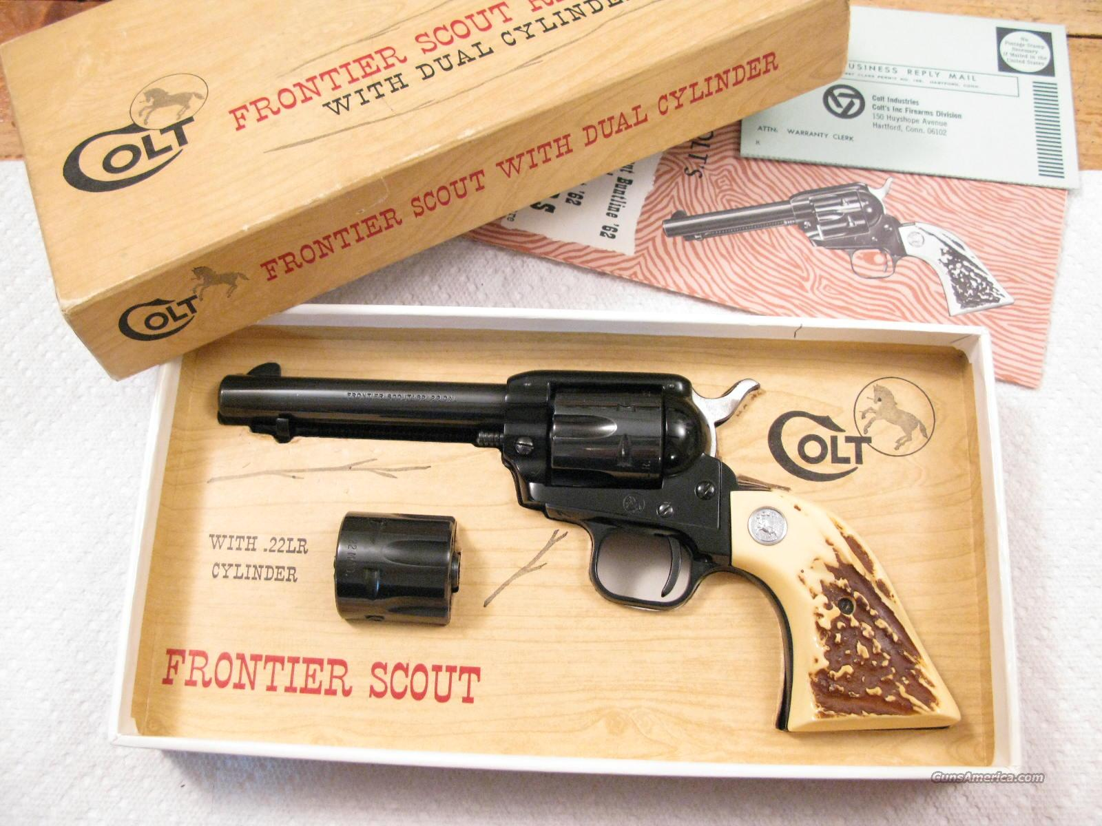 "Frontier Scout 4 3/4"" .22 Lr/.22 Magnum Dual Cylinder New In Box  Guns > Pistols > Colt Single Action Revolvers - Modern (22 Cal.)"