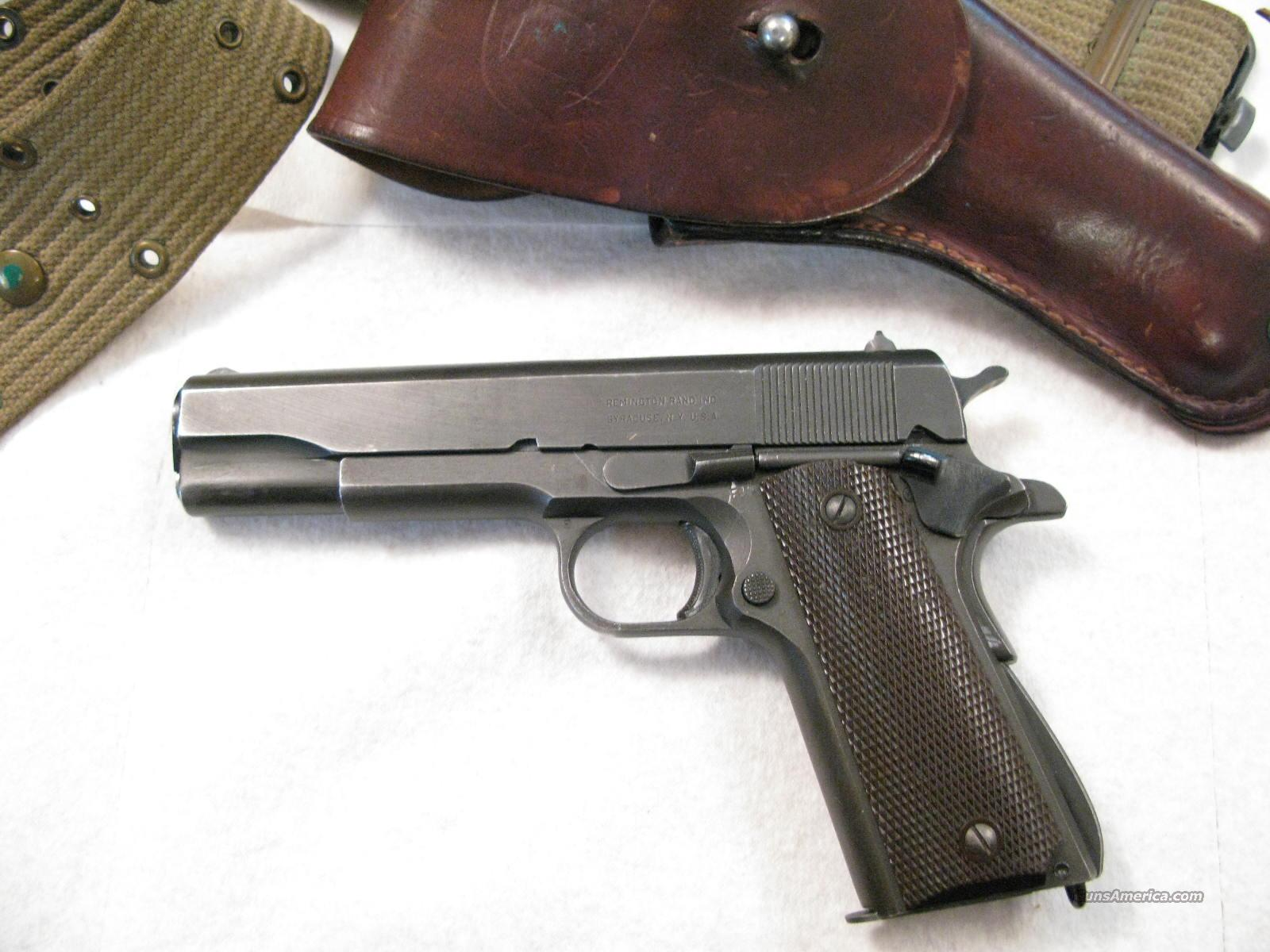 Remington M-1911-A1 .45 ACP With Holster  Guns > Pistols > Military Misc. Pistols US > 1911 Pattern