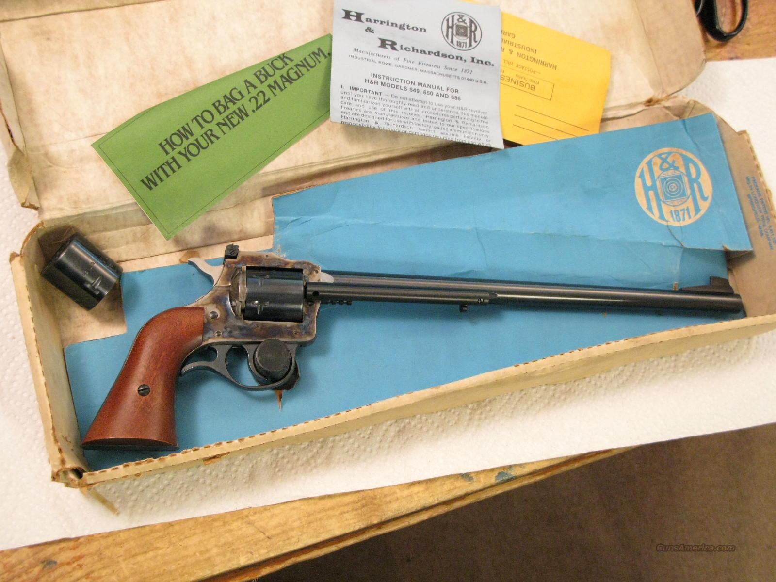 "M-686 12""  Barrel .22Lr/.22 Mag Dual Cylinder New In Box  Guns > Pistols > Harrington & Richardson Pistols"