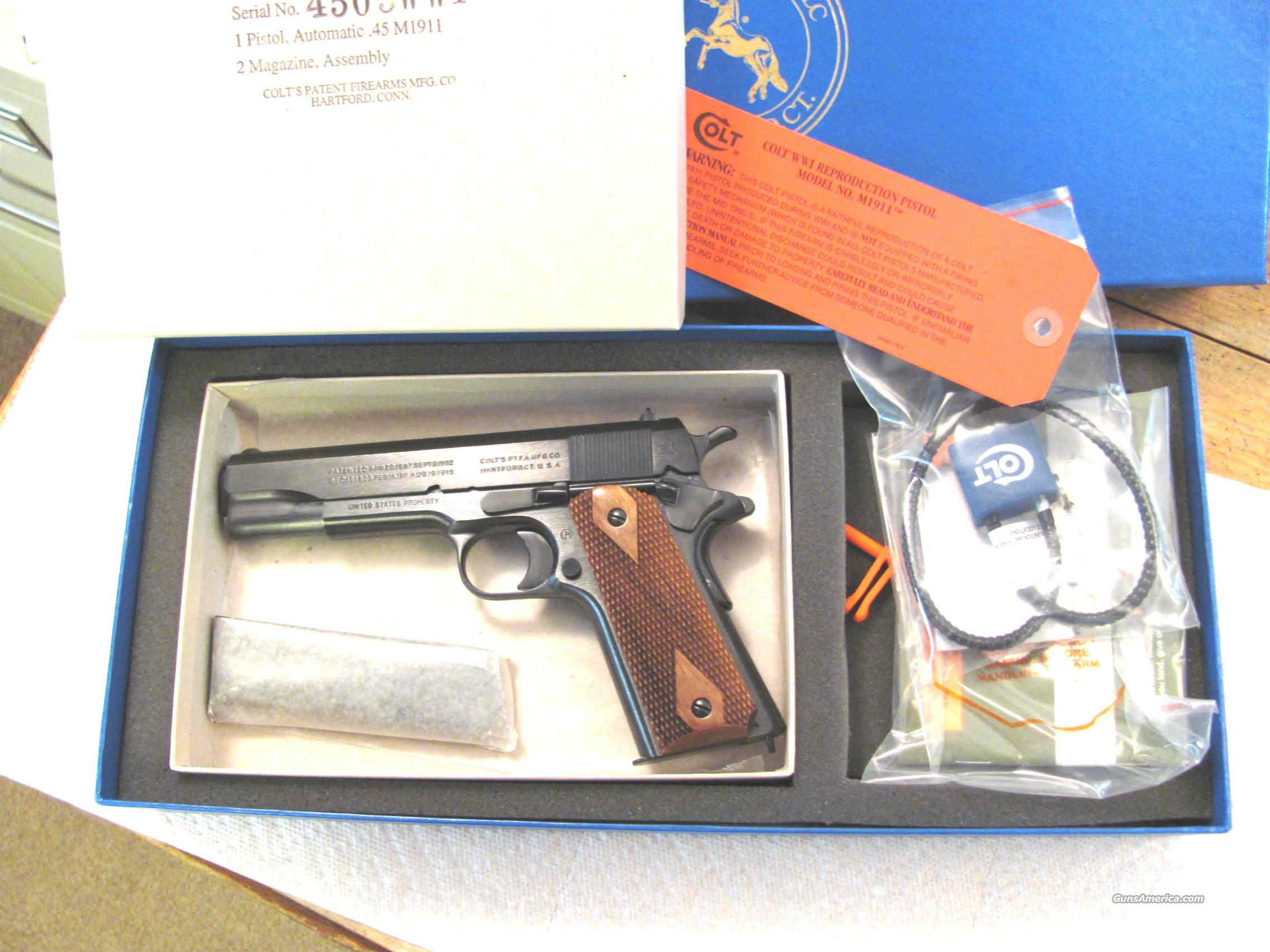 M-1911 .45 ACP Black Army of 1918 New In Box  Guns > Pistols > Military Misc. Pistols US > 1911 Pattern