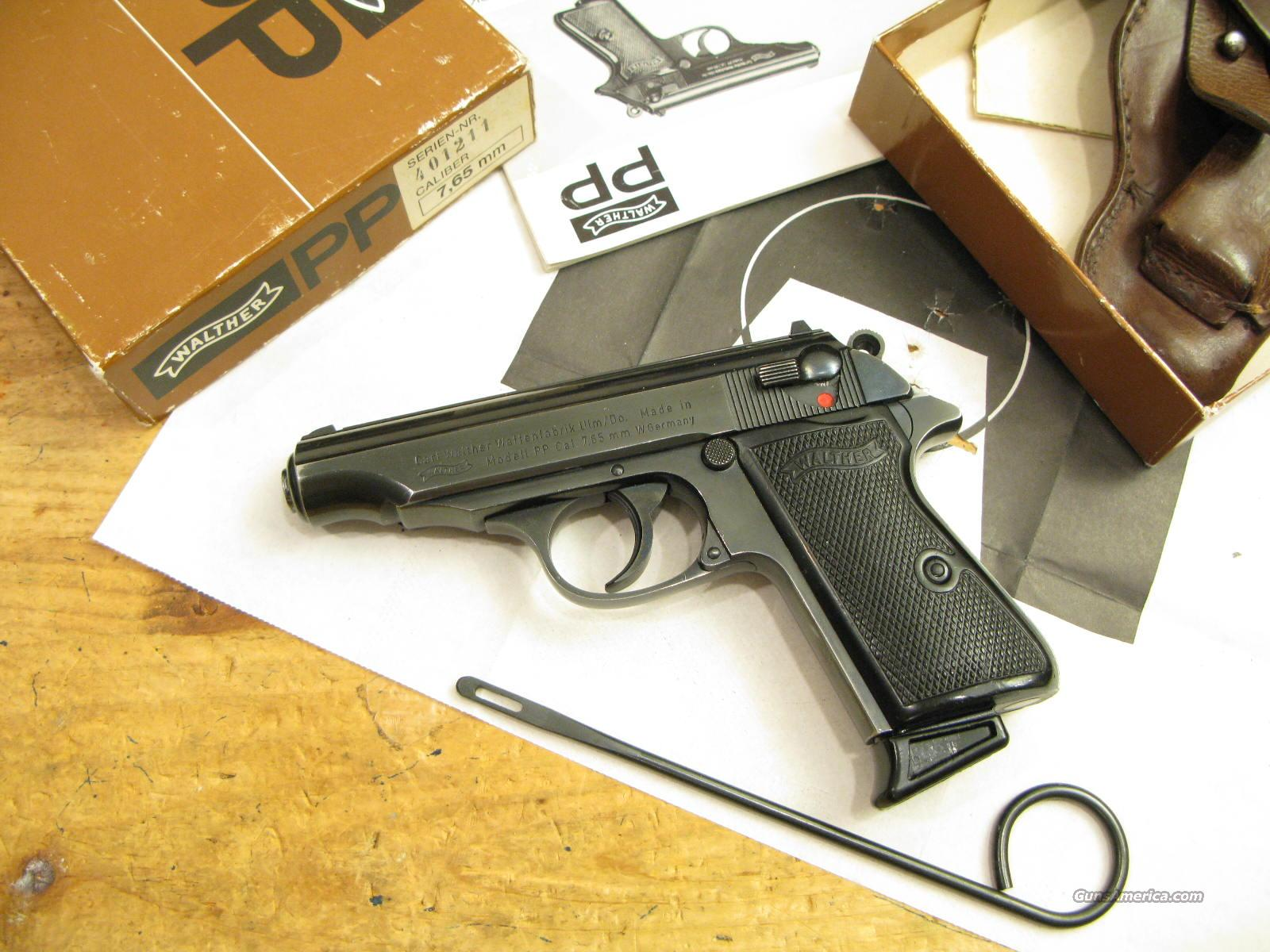 PP German .32 ACP With Box, Target and  Manual Older Model  Guns > Pistols > Walther Pistols > Post WWII > PP Series