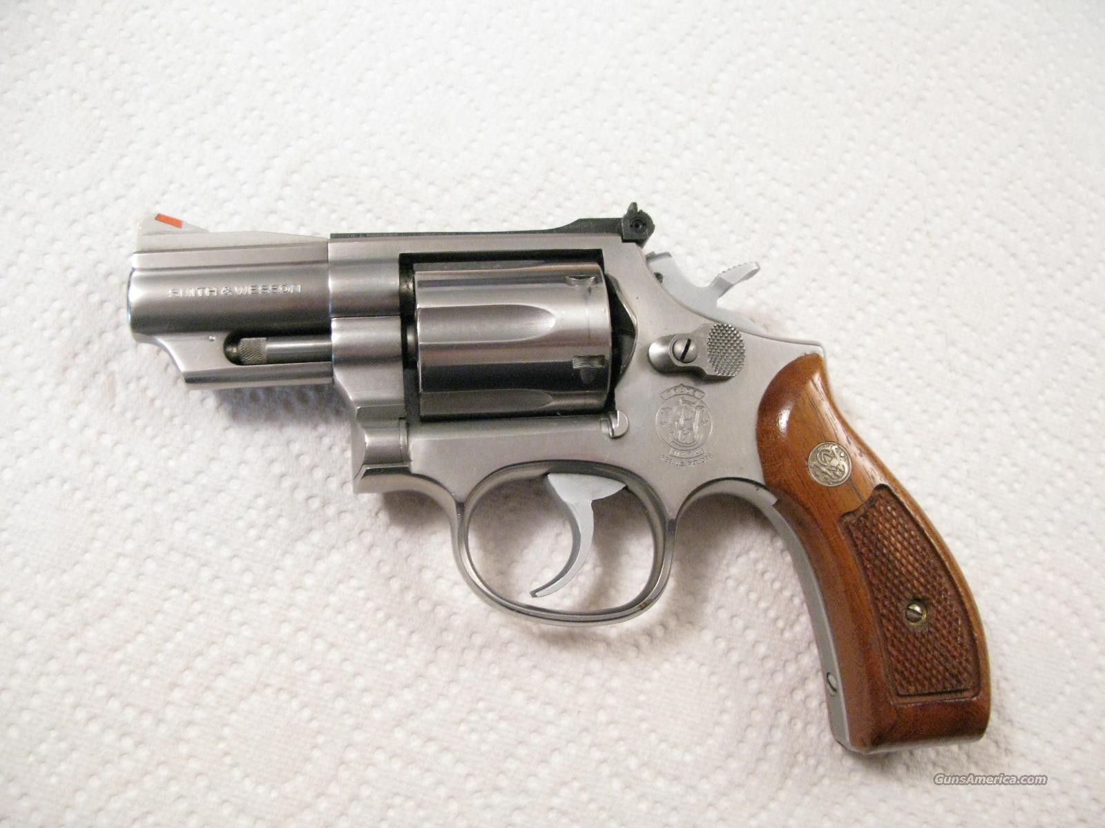 "M-66 2 1/2"" .357 Combat Magnum Stainless Steel Red Ramp   Guns > Pistols > Smith & Wesson Revolvers > Full Frame Revolver"