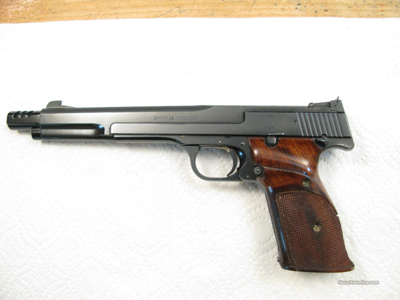 "M-41 7 3/8"" .22 LR Early Target Pistol With Muzzle Brake  Guns > Pistols > Smith & Wesson Pistols - Autos > .22 Autos"