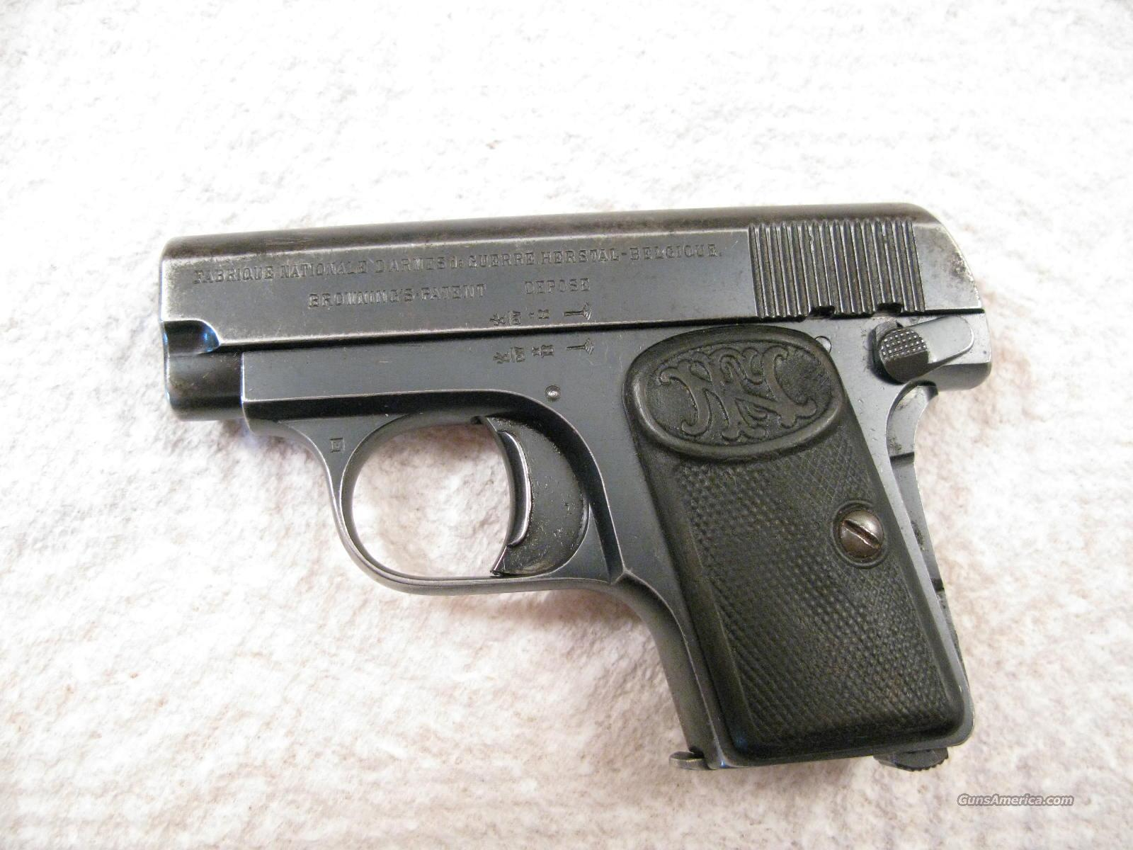 FN Model 1905-FN .25 Auto   Guns > Pistols > Browning Pistols > Baby Browning