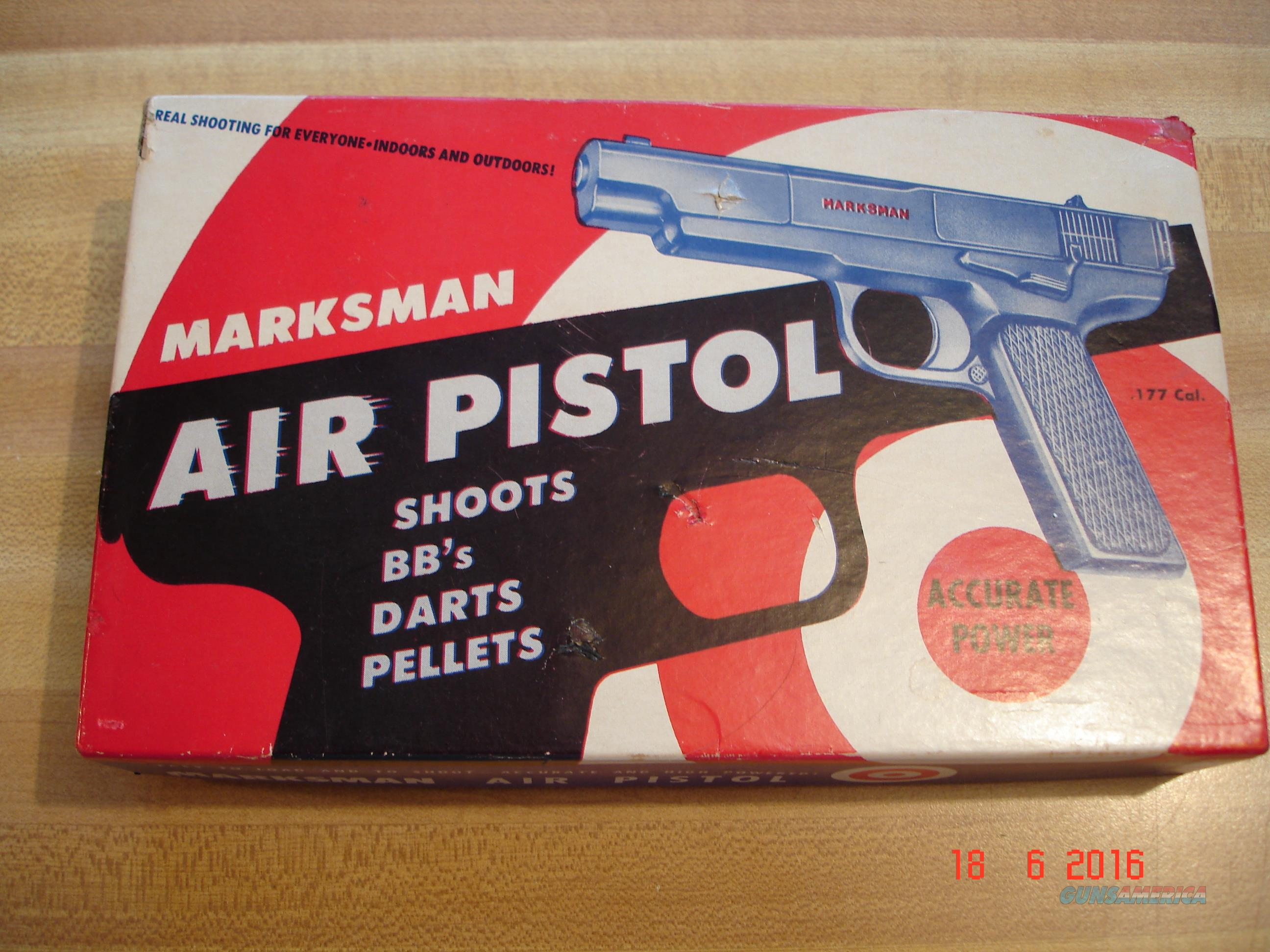 Vintage Marksman .177cal. Pellet/BB Pistol MIB 1960's MFG with all shipping Items  Non-Guns > Air Rifles - Pistols > Vintage