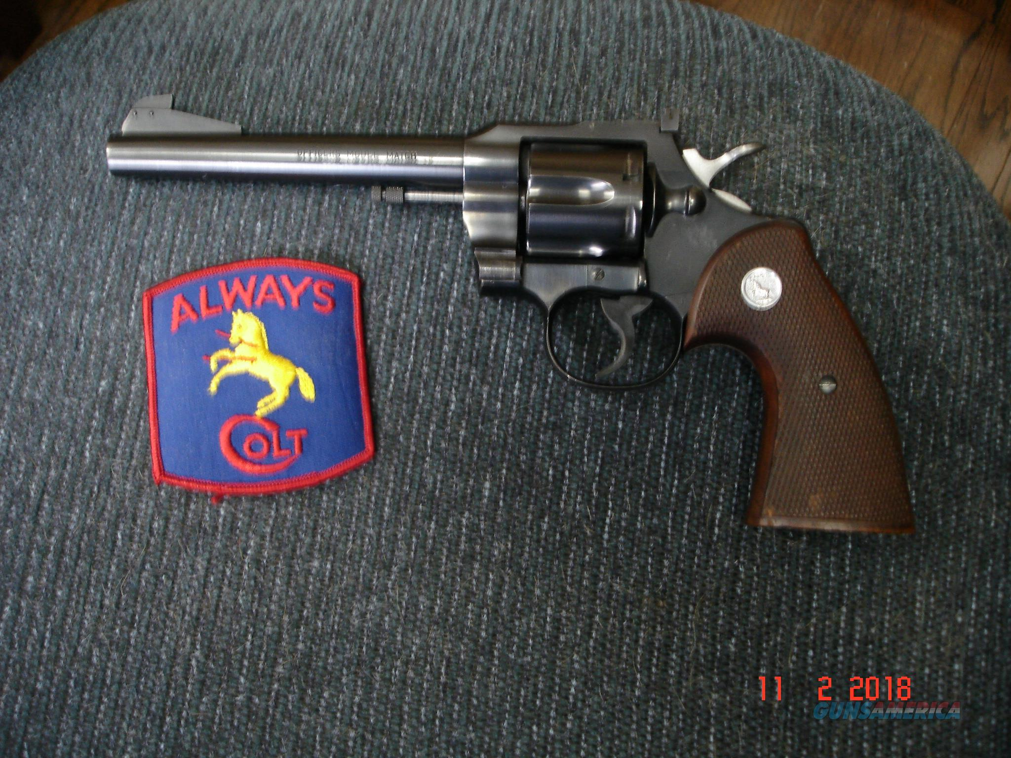 Rare Colt Officers Model Match S/A Only MFG 1959 N. Mint Lettered  Guns > Pistols > Colt Double Action Revolvers- Modern