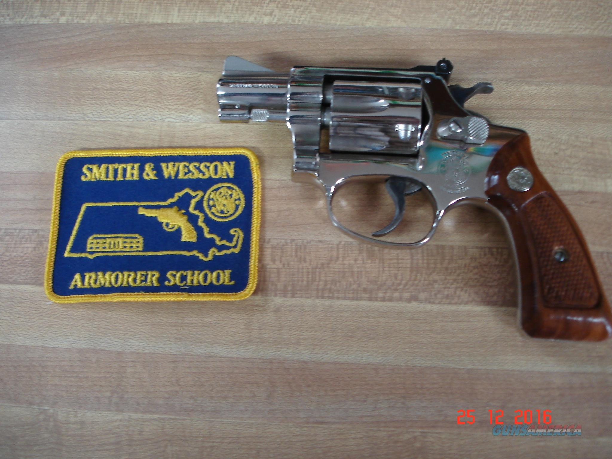 "S&W Mod. 34-1 Bright Nickel 2"" .22Lr. New Unfired MFG 1982  Guns > Pistols > Smith & Wesson Revolvers > Small Frame ( J )"