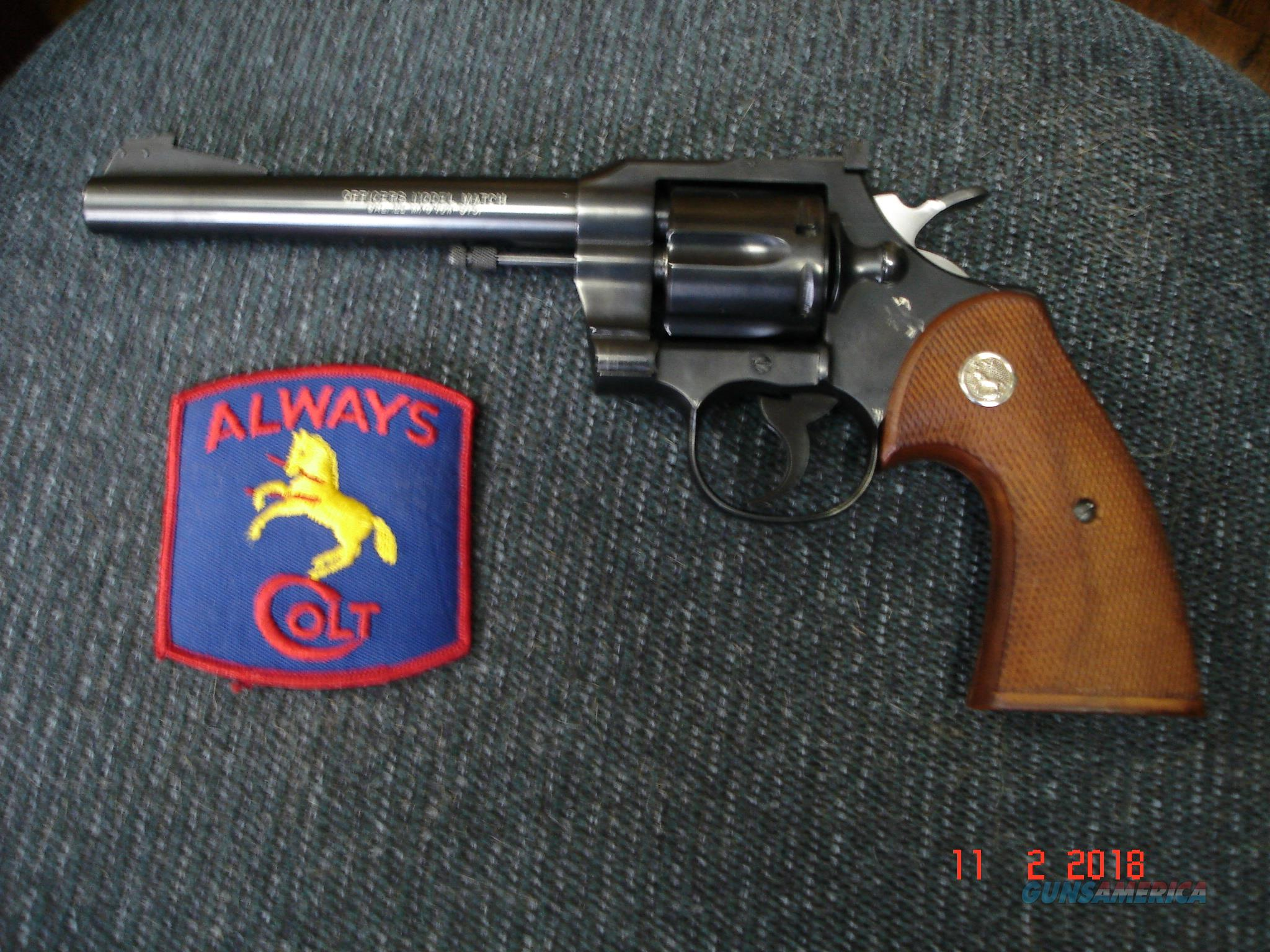RARE Colt Officers Mod.Match .22WMR 1of850 1959 Mint TS,TH  Guns > Pistols > Colt Double Action Revolvers- Modern