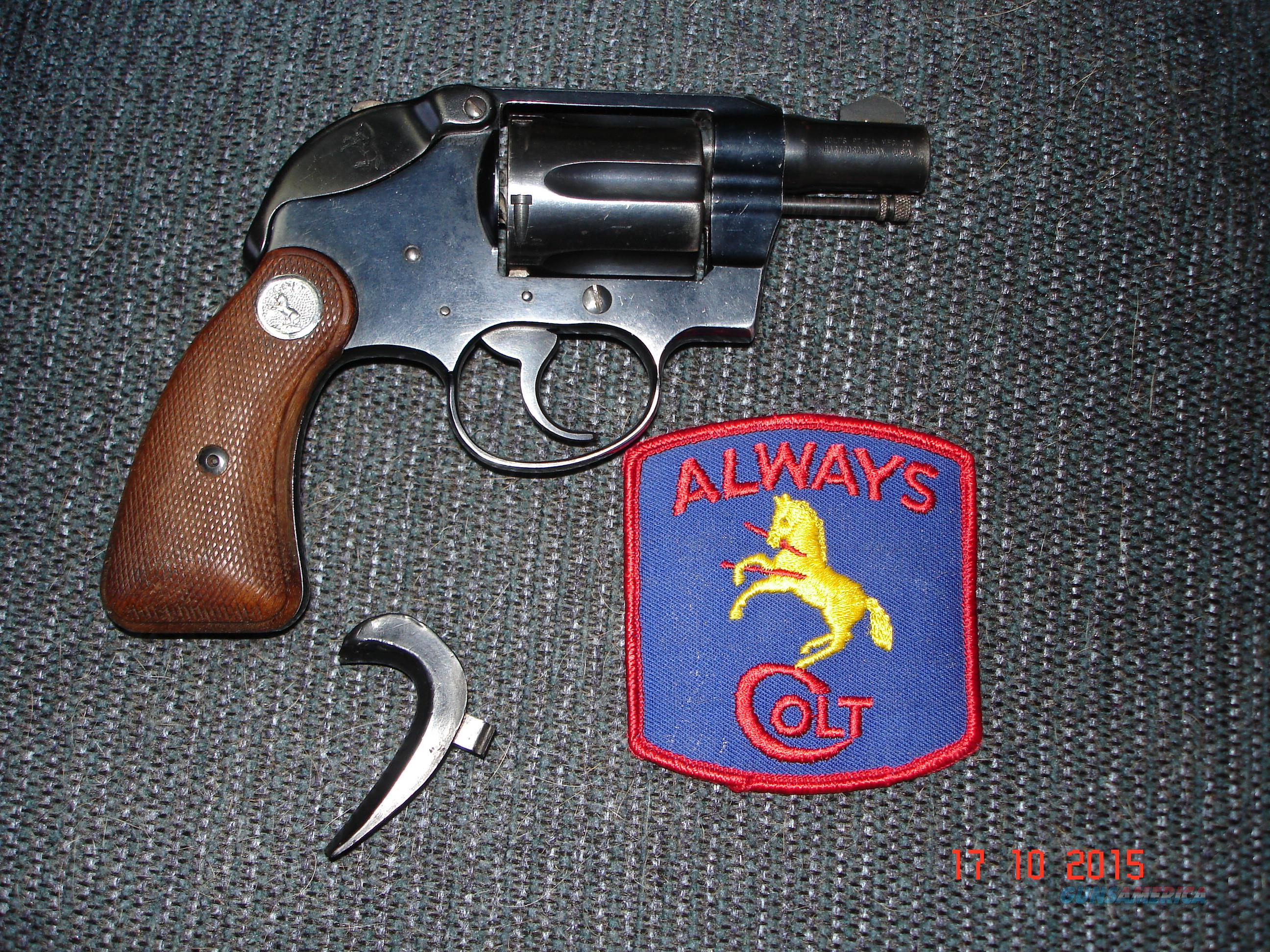 "Colt Cobra 1963 With Hammer shroud 2""BBl. .38Spec. Nice!  Guns > Pistols > Colt Double Action Revolvers- Modern"
