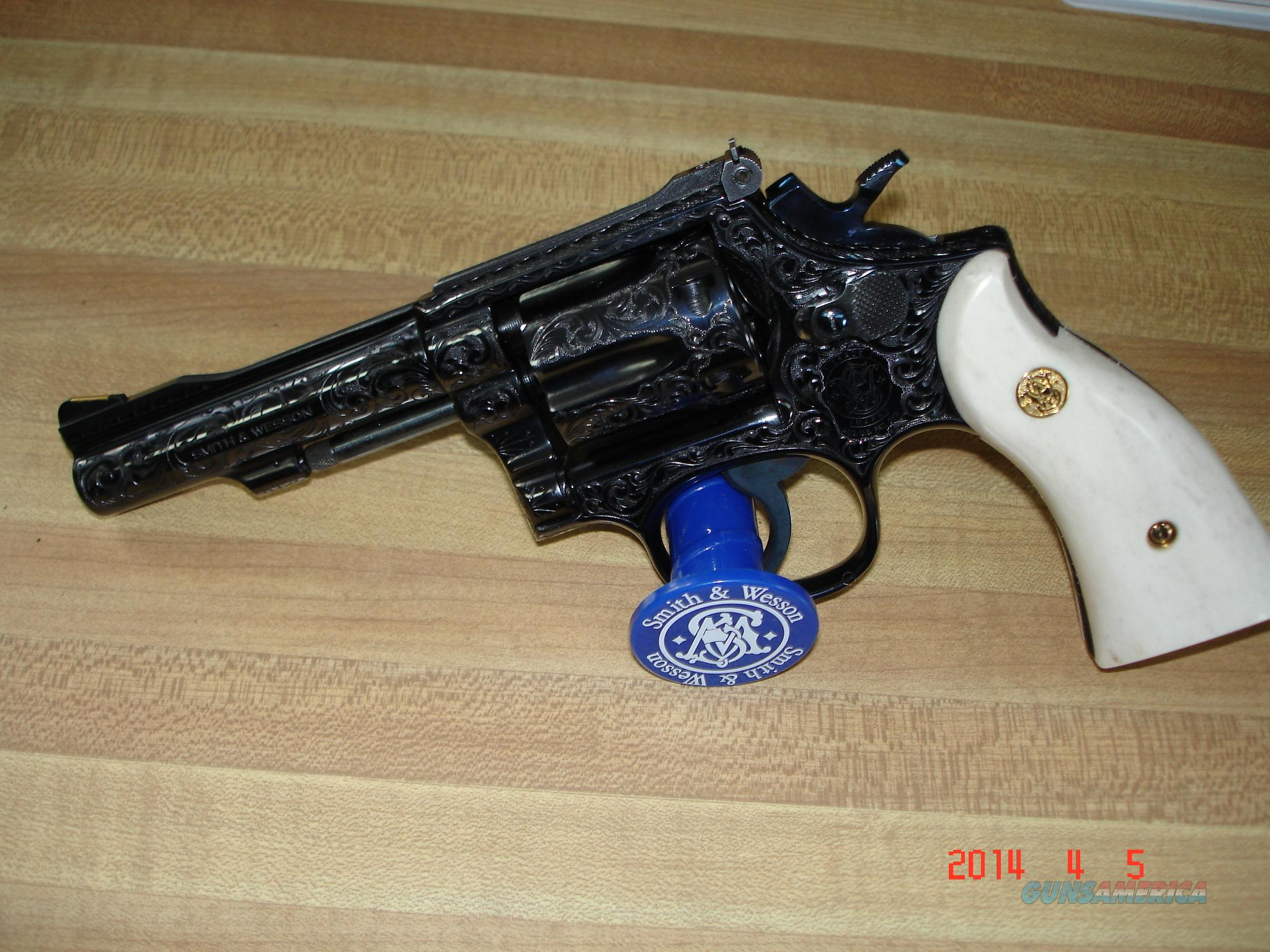 S&W Mod.48-4 K-22 Masterpice Mag. Engraved by J.Adams  Guns > Pistols > Smith & Wesson Revolvers > Full Frame Revolver