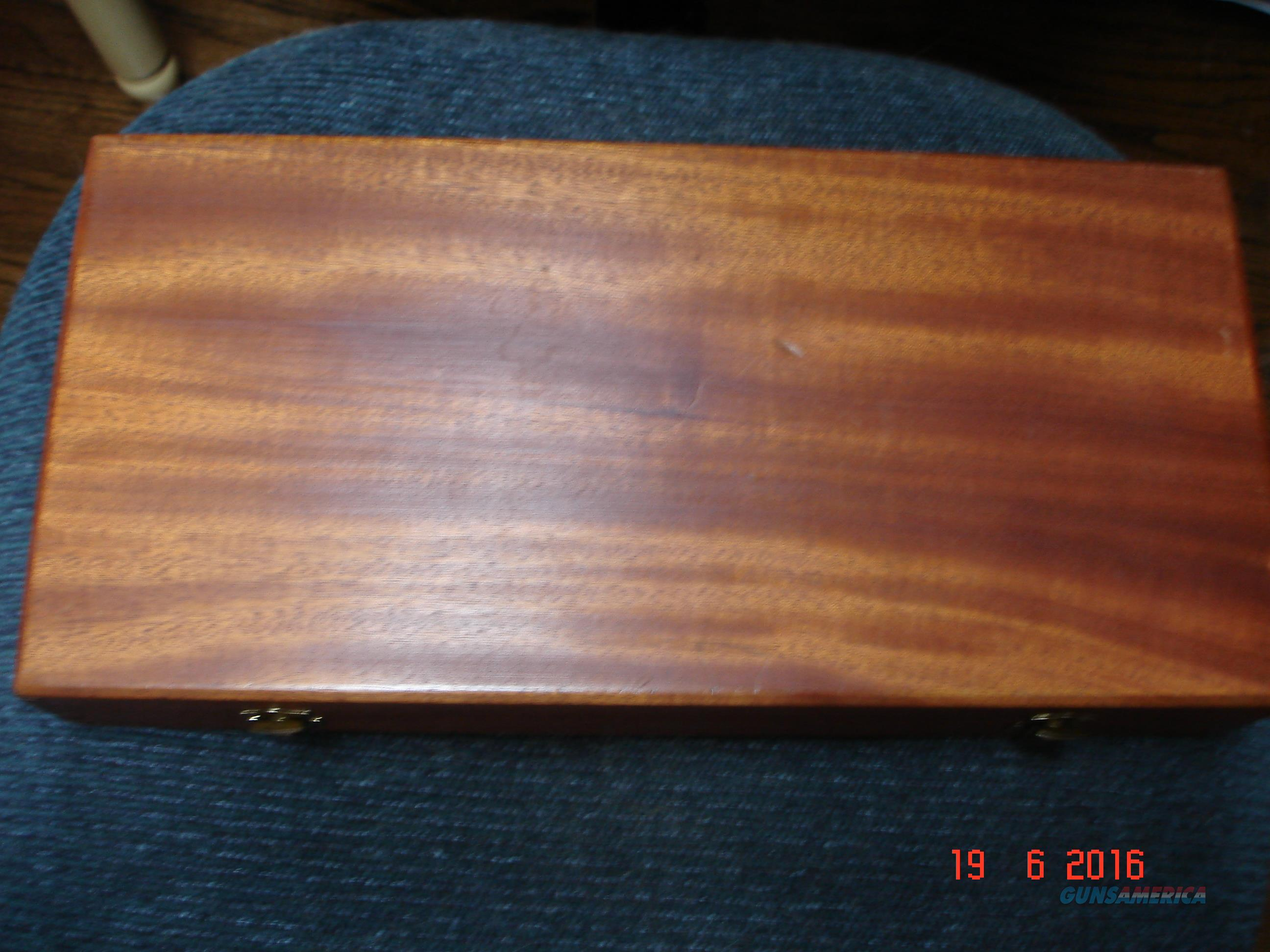 "S&W  Wood Presentation Case Vintage 1970's for N-frame 8 3/8""BBl.  Non-Guns > Gun Cases"