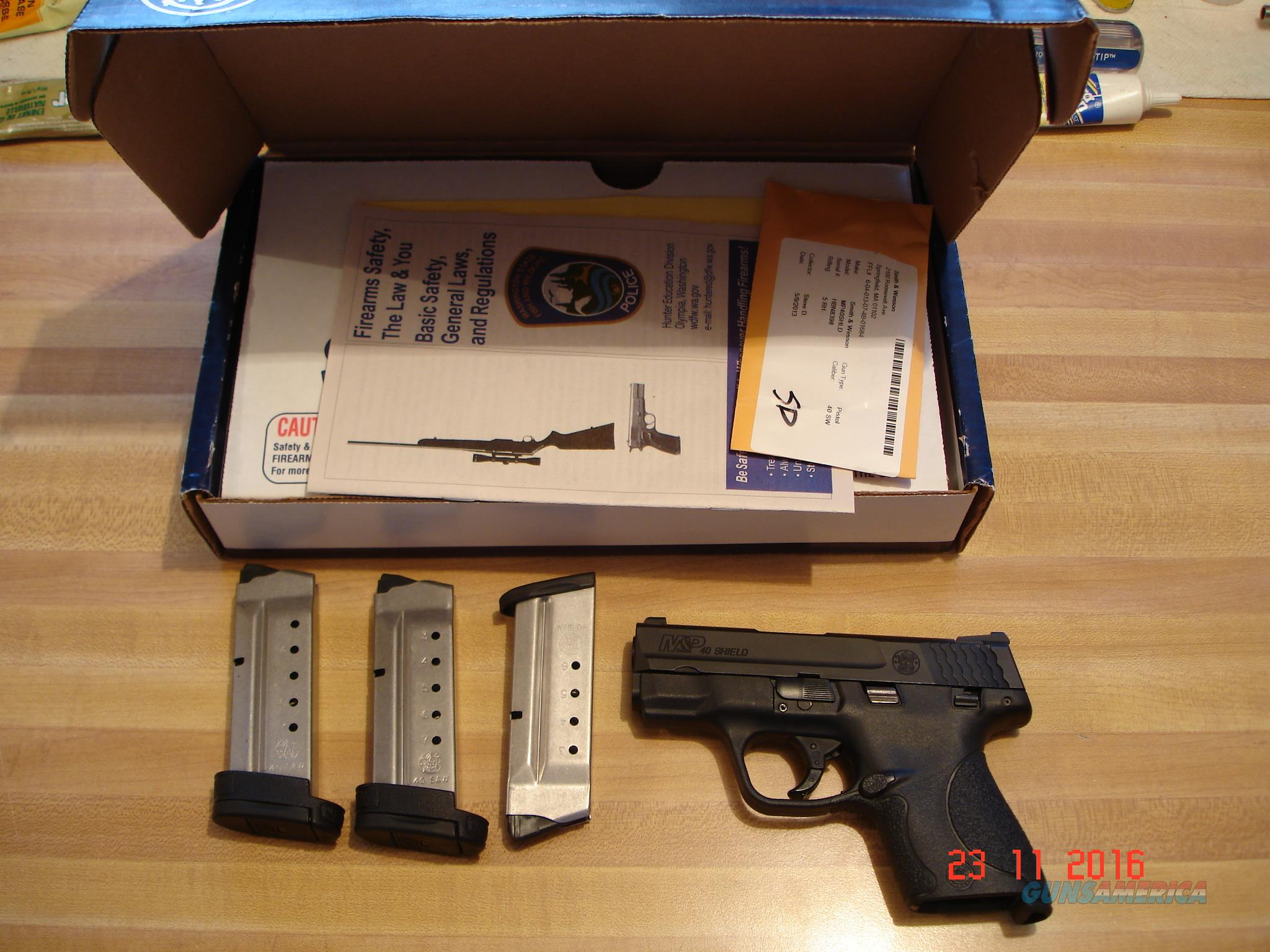 S&W MP .40Shield Semi-Auto MIB with $200.00 Extras Added  Guns > Pistols > Smith & Wesson Pistols - Autos > Shield