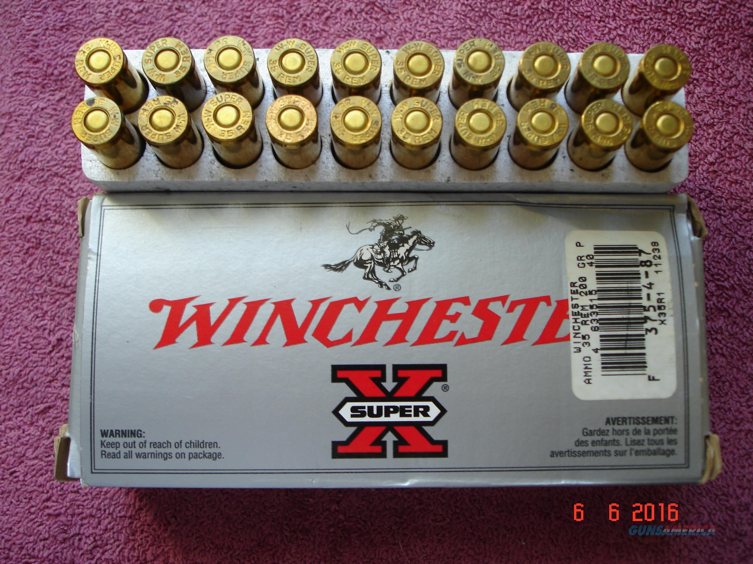 Winchester Super X .35 rem. 200 gr. power point Box of 20 Ctgs.  Non-Guns > Ammunition