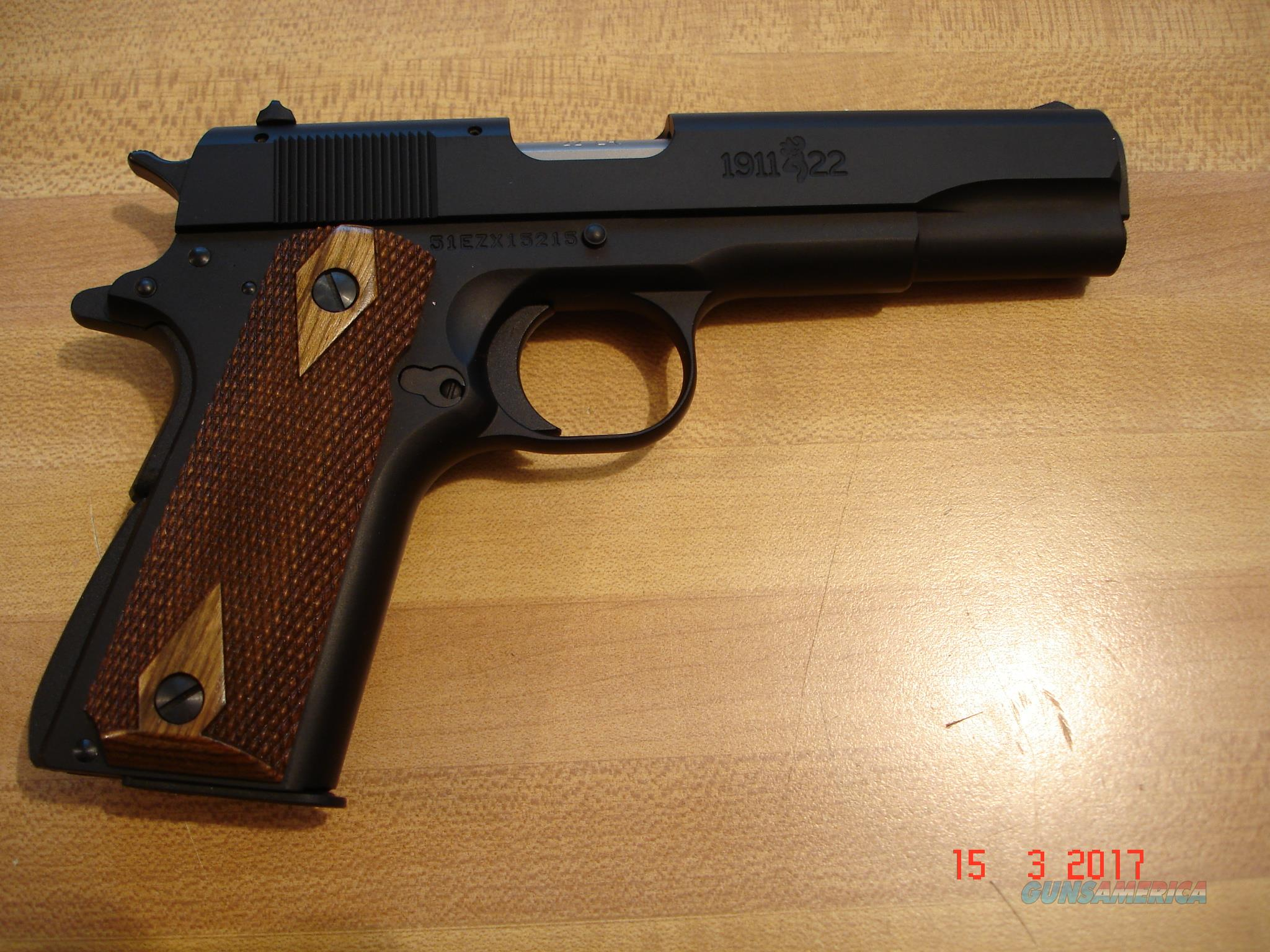 "Browning mod.1911-22 Semi-auto NIB MFG 2013 4 1/4""BBl   Guns > Pistols > Browning Pistols > Other Autos"