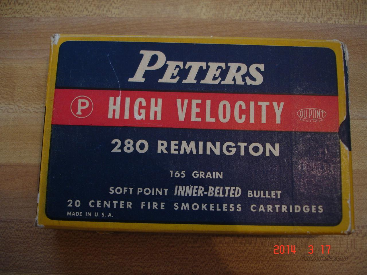 Vintage Peters .280 Rem.165Gr.SP full box  Non-Guns > Ammunition