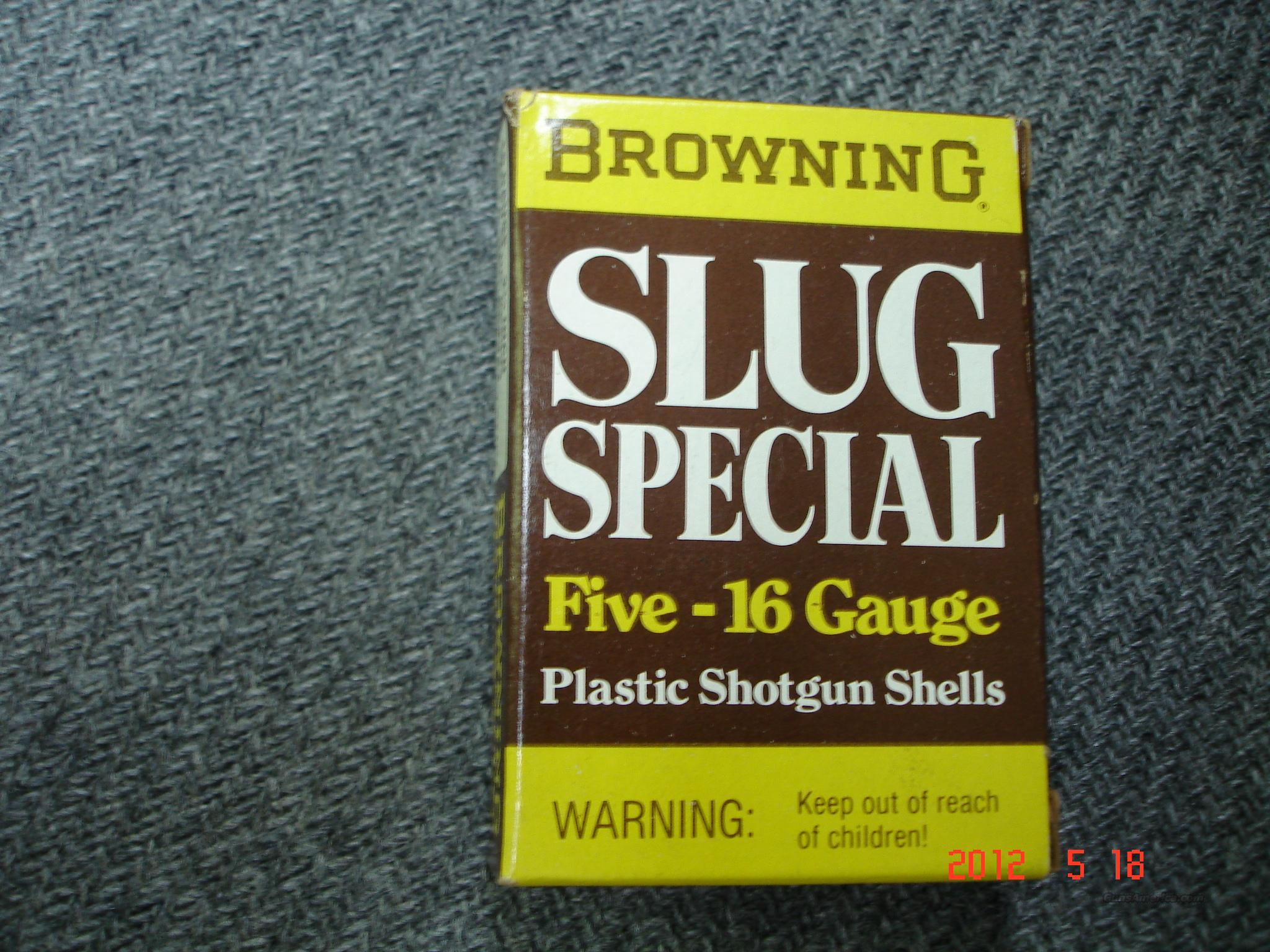 Browning 16GA Slugs NIB  Non-Guns > Ammunition