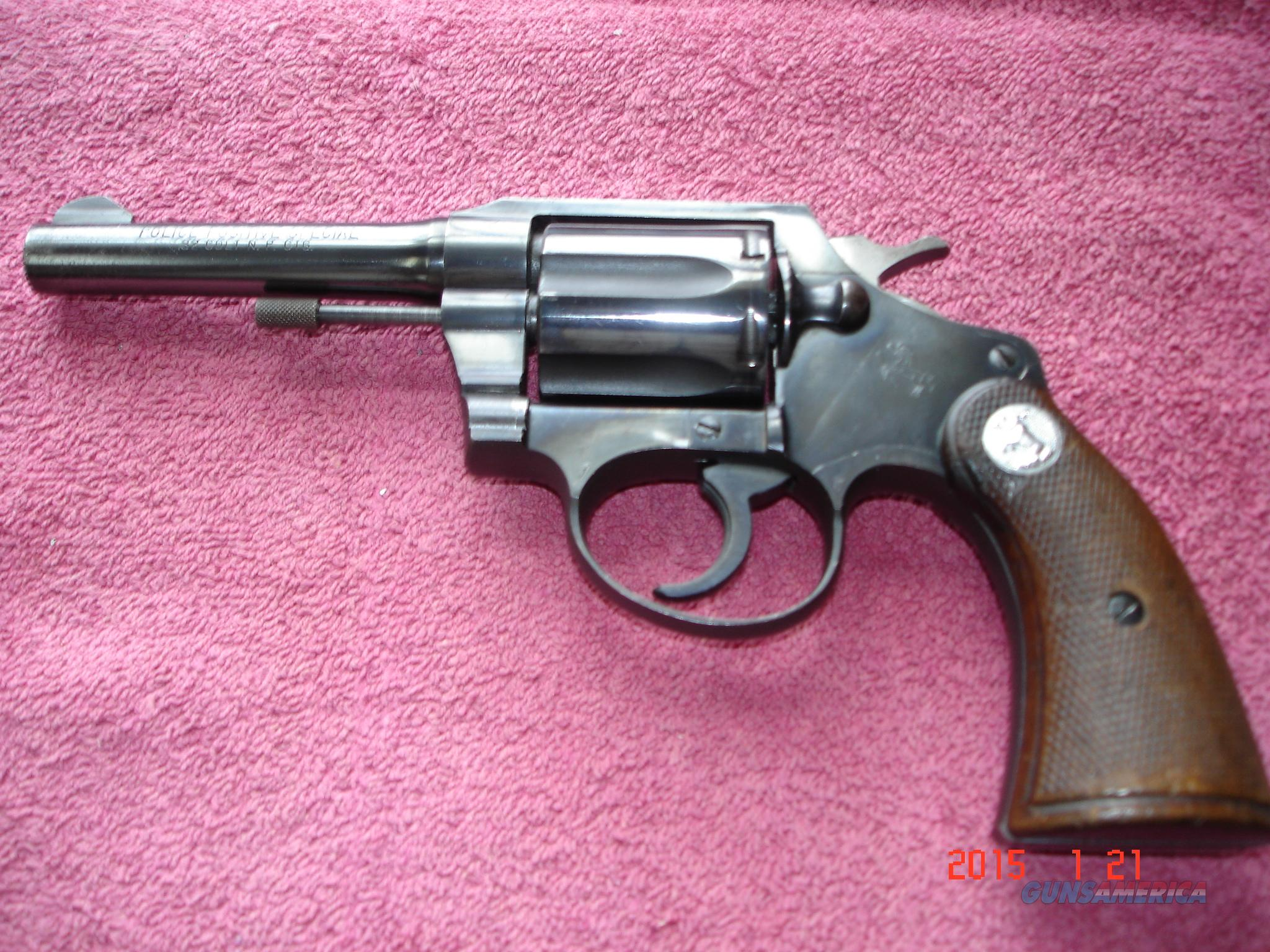 "Colt Police Positive Special in .32Colt NP 4"" Blue MFG 1949  Guns > Pistols > Colt Double Action Revolvers- Modern"