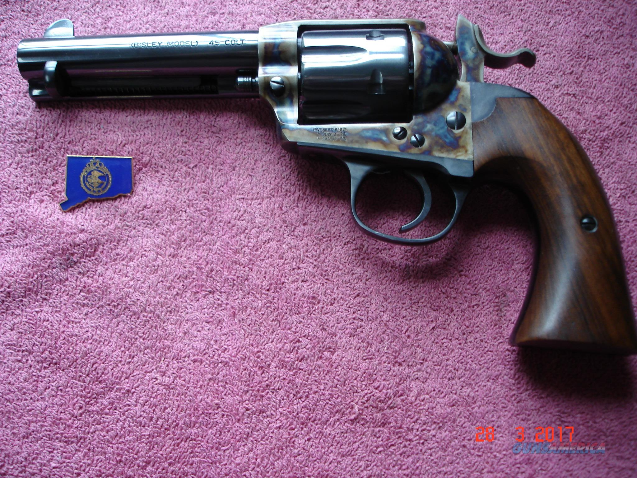 "Rare USFA Bisley .45 Colt 4 3/4""BBl. New Unfired Turnbull Bone case Dome Blue  Guns > Pistols > USFA Pistols"