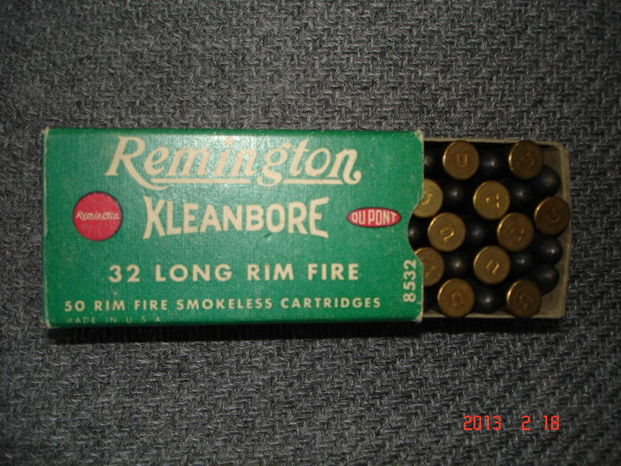 Remington .32 RIM  Fire Ctgs. Full box  Non-Guns > Ammunition