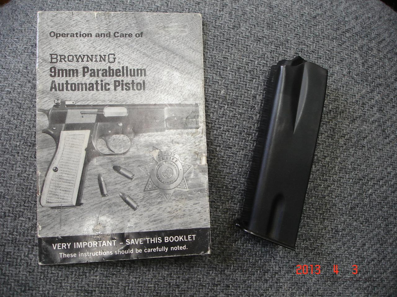 Vintage Browning Hi Power 13-Rnd. 9m/m Mag.  Non-Guns > Magazines & Clips > Pistol Magazines > Other