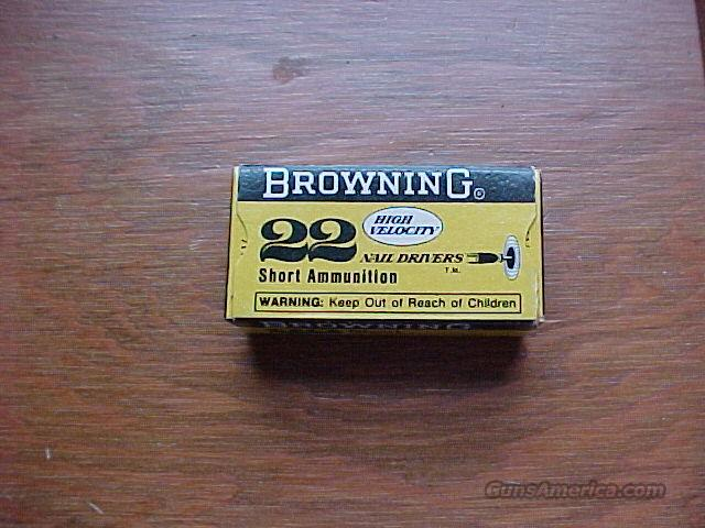 Browning Rare .22 Shorts 50Pack  Non-Guns > Collectible Cartridges