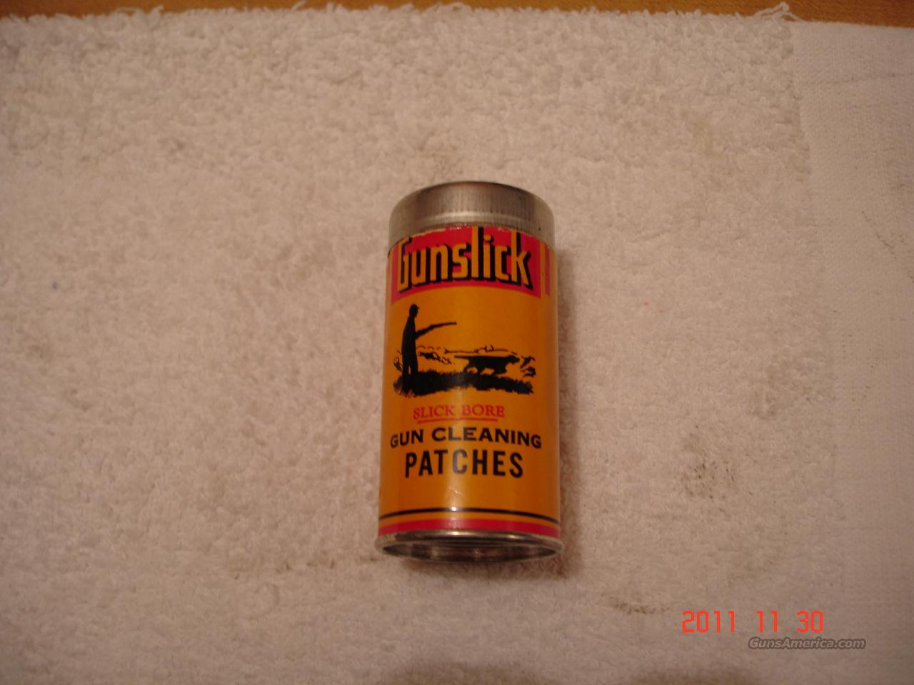 Vintage Gunslick cleaning patch container  Non-Guns > Curios