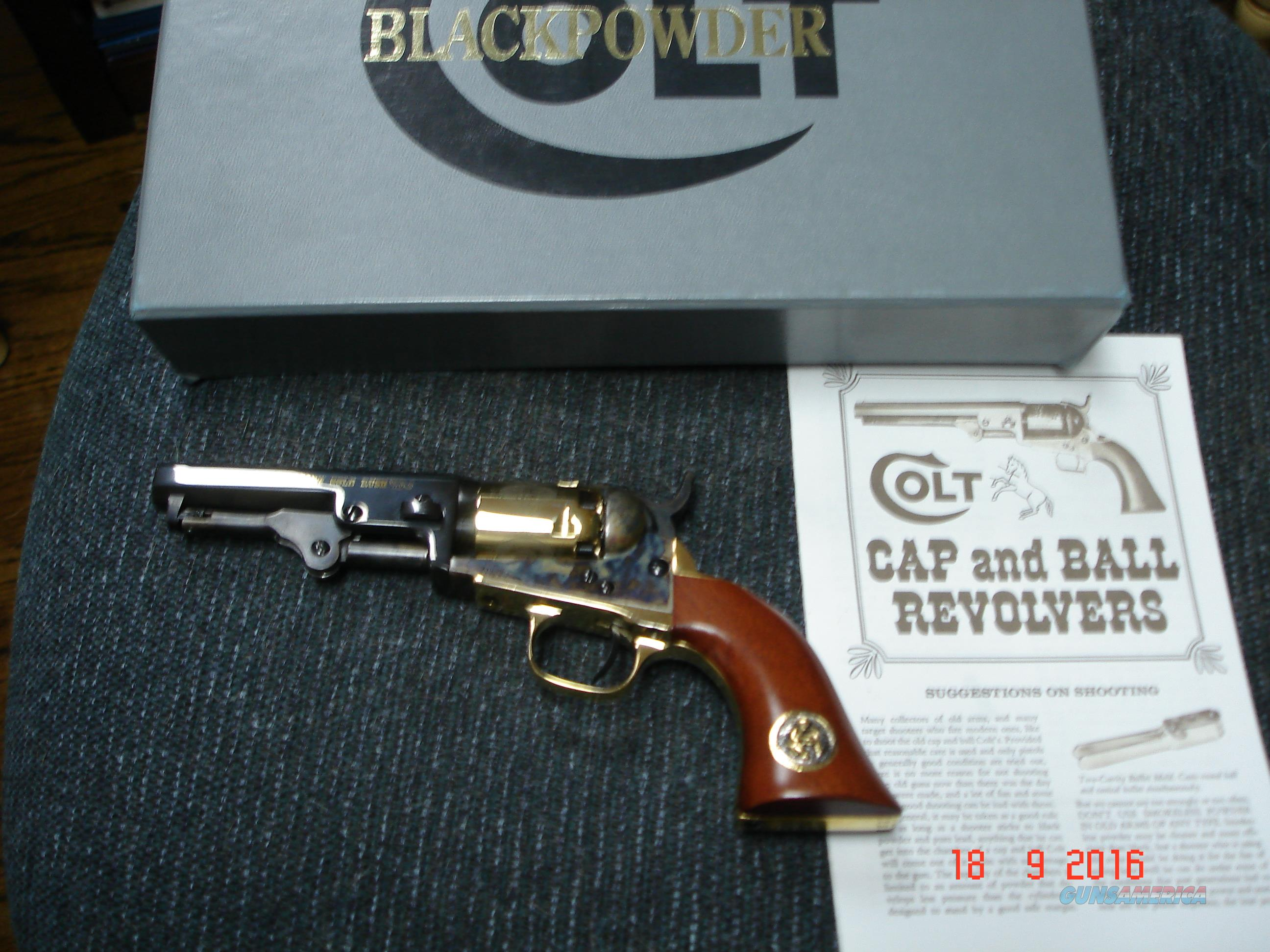 "Colt 1849 Pocket 150th Gold Rush .31Cal Percussion Revolver ANIB 4"" BBl.  Guns > Pistols > Colt Percussion Revolver - Modern"