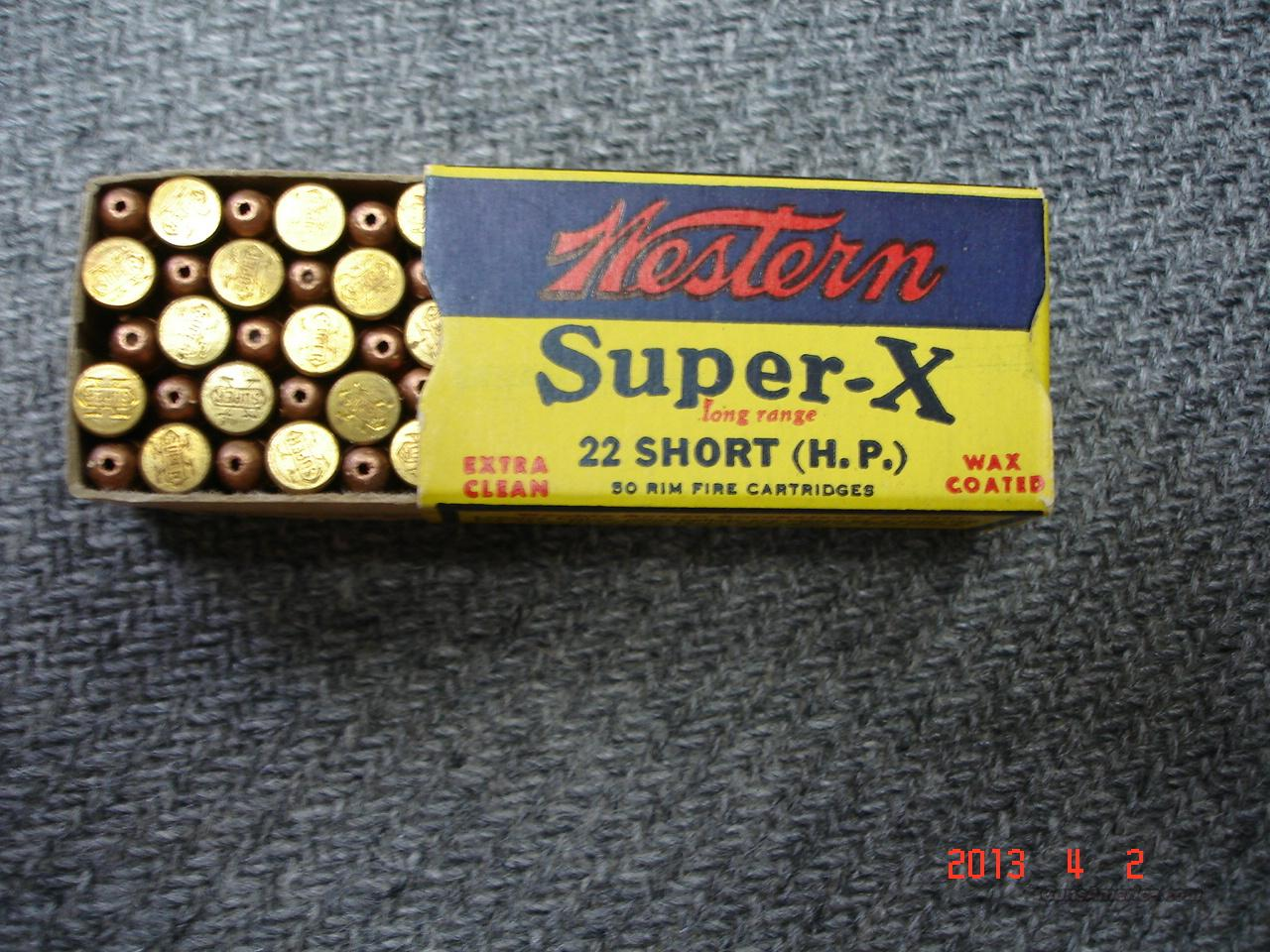 Vintage Western Super X .22 Short HP  Non-Guns > Ammunition