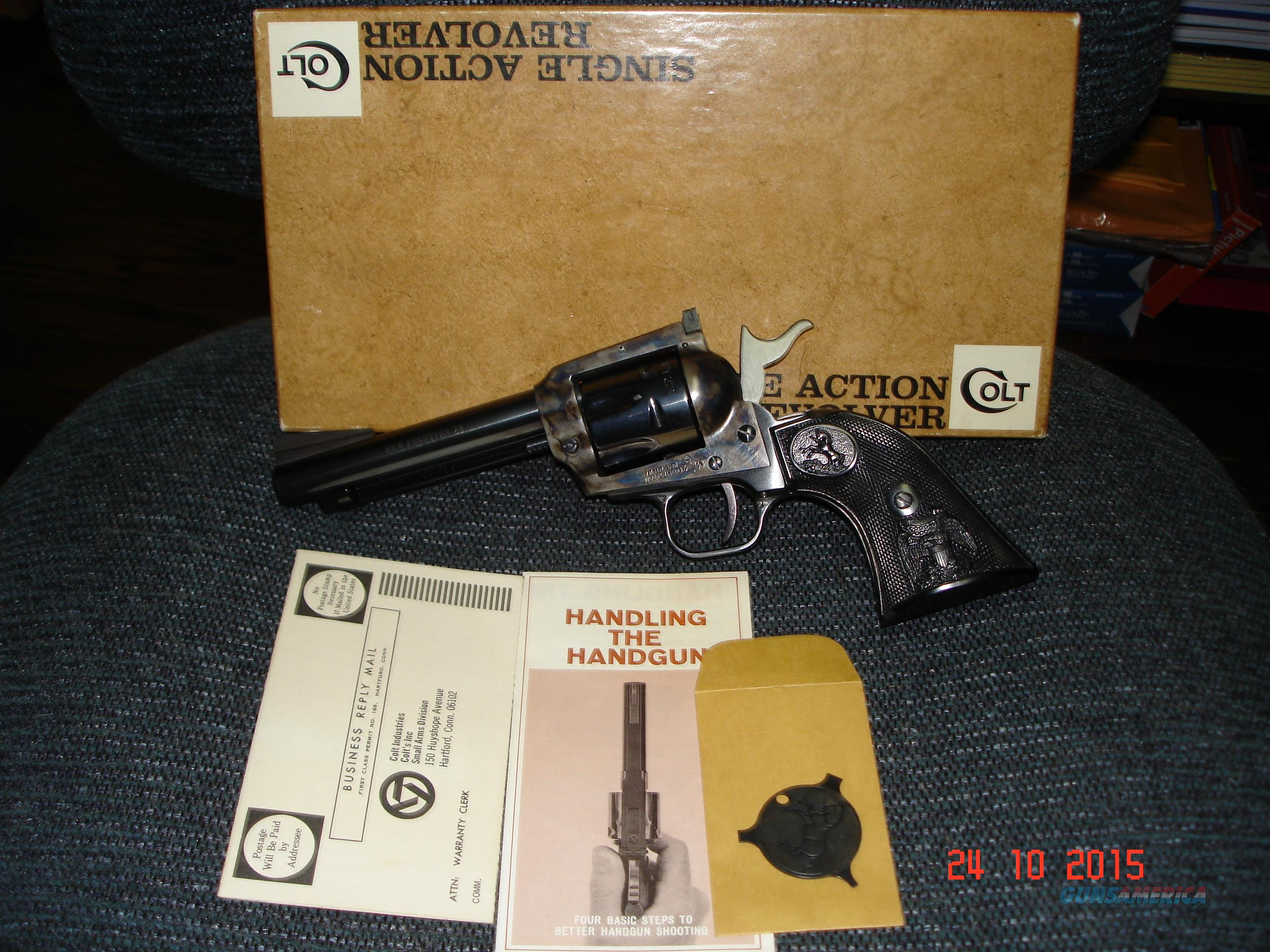 "Colt RARE New Frontier .22LR 4 3/4""BBL. ANIB MFG 1971  Guns > Pistols > Colt Single Action Revolvers - Modern (22 Cal.)"