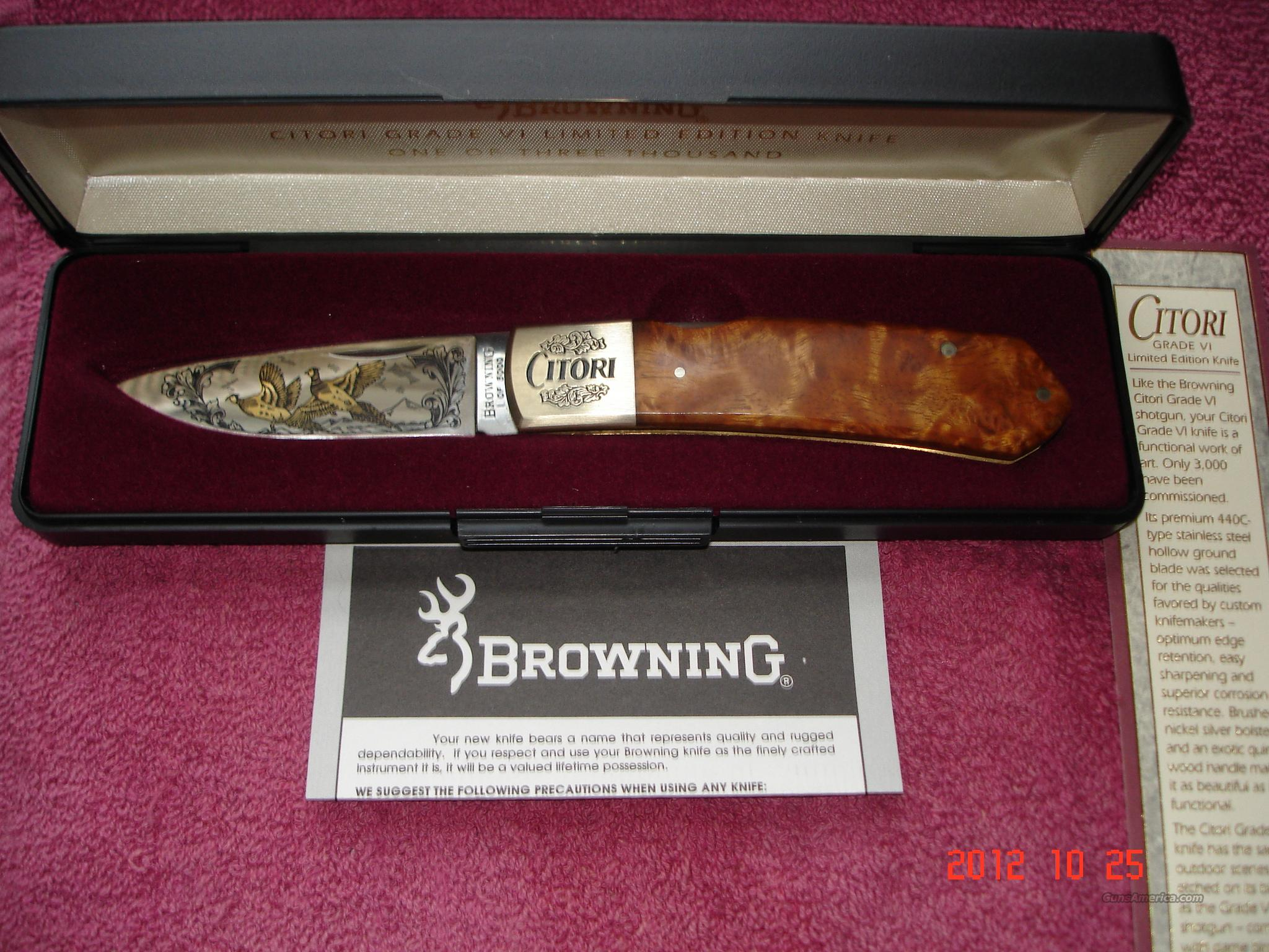Browning citori GD VI 1-3K NEW in case  Non-Guns > Knives/Swords > Knives > Folding Blade > Imported