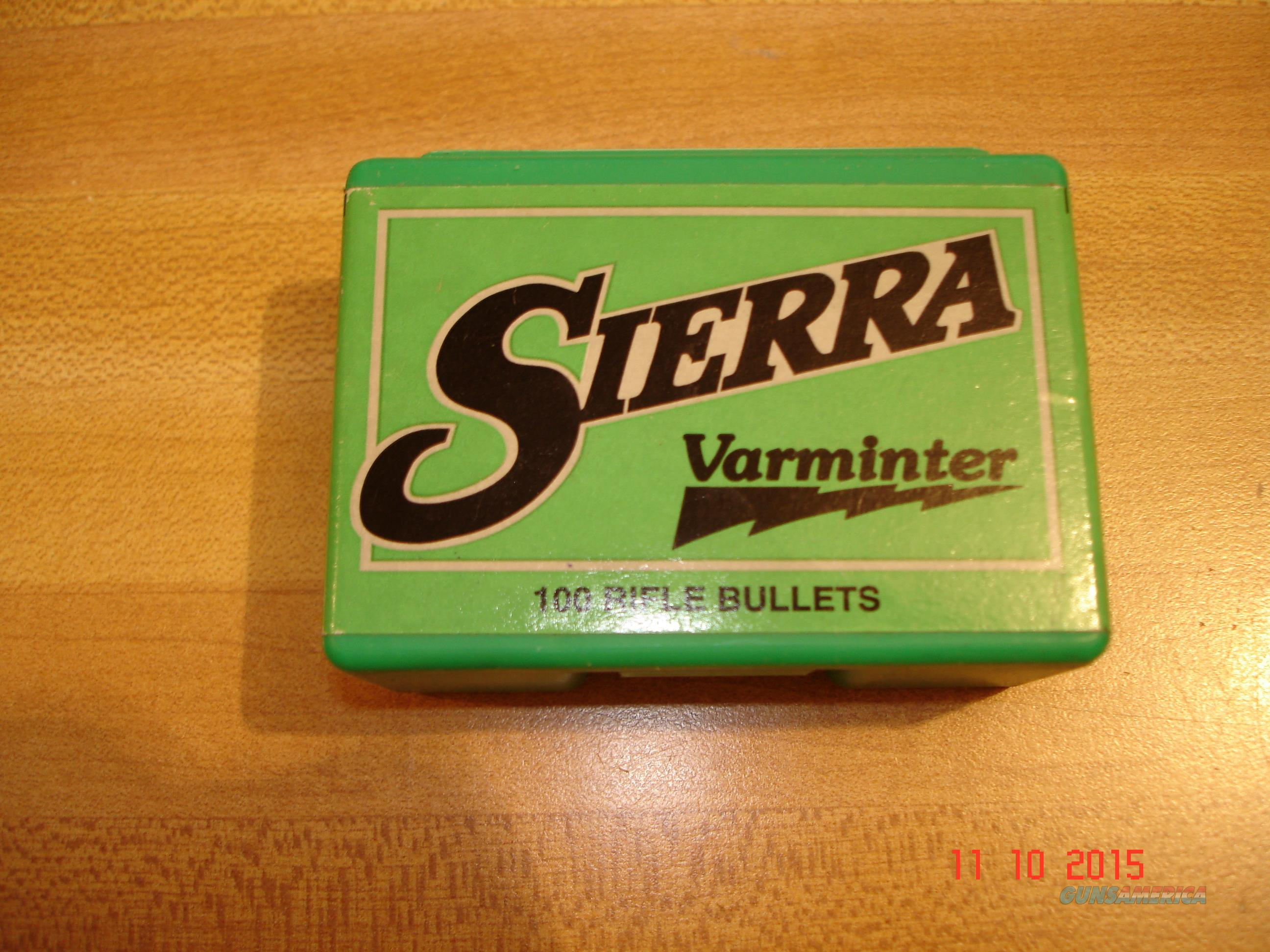 Sierra .243 Dia  75 Gr. HP Varminter Bullets 100 Ct. Box  Non-Guns > Reloading > Components > Bullets