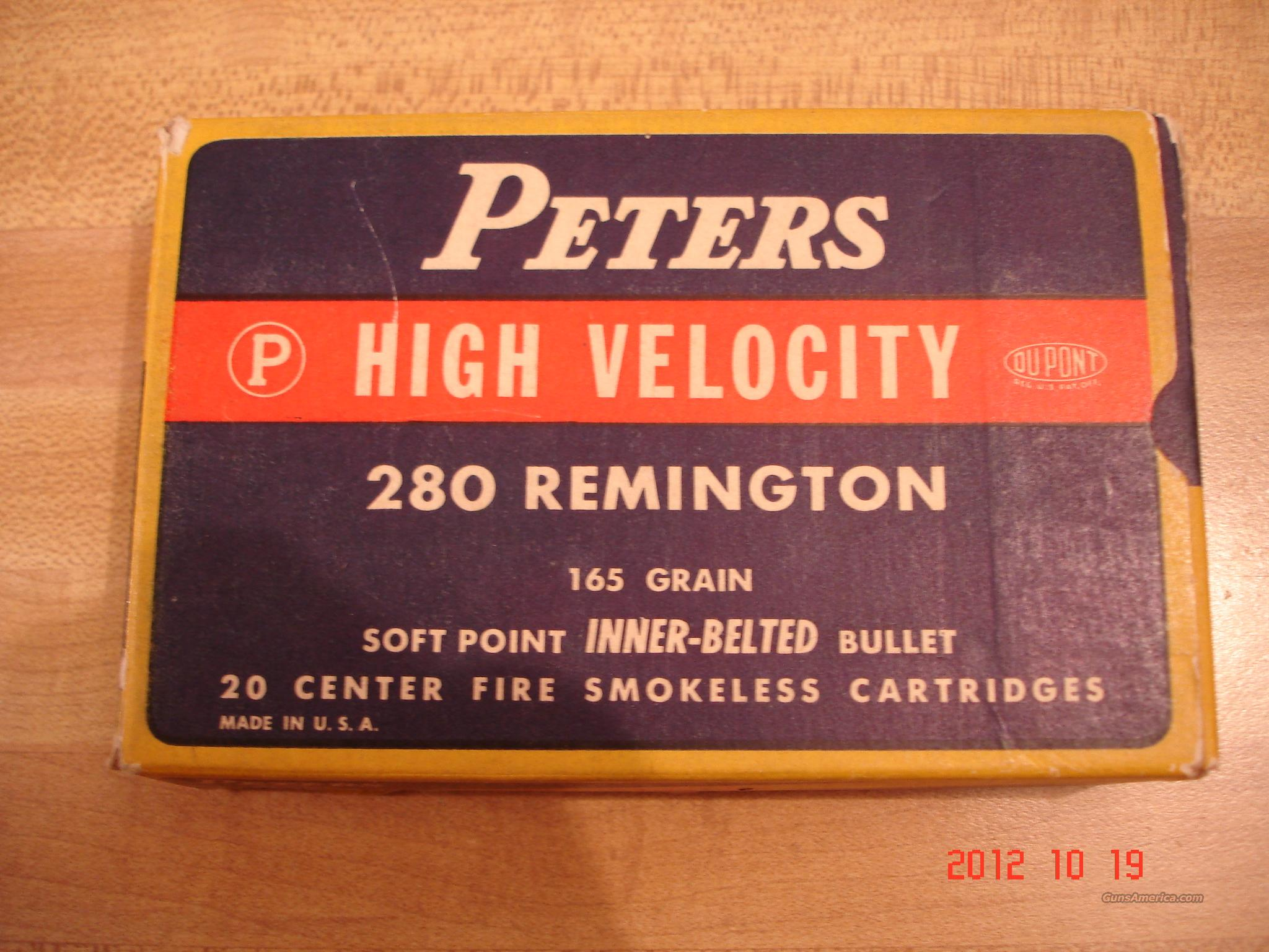 Vintagev Peters .280 Rem. 165grSP.  Non-Guns > Ammunition